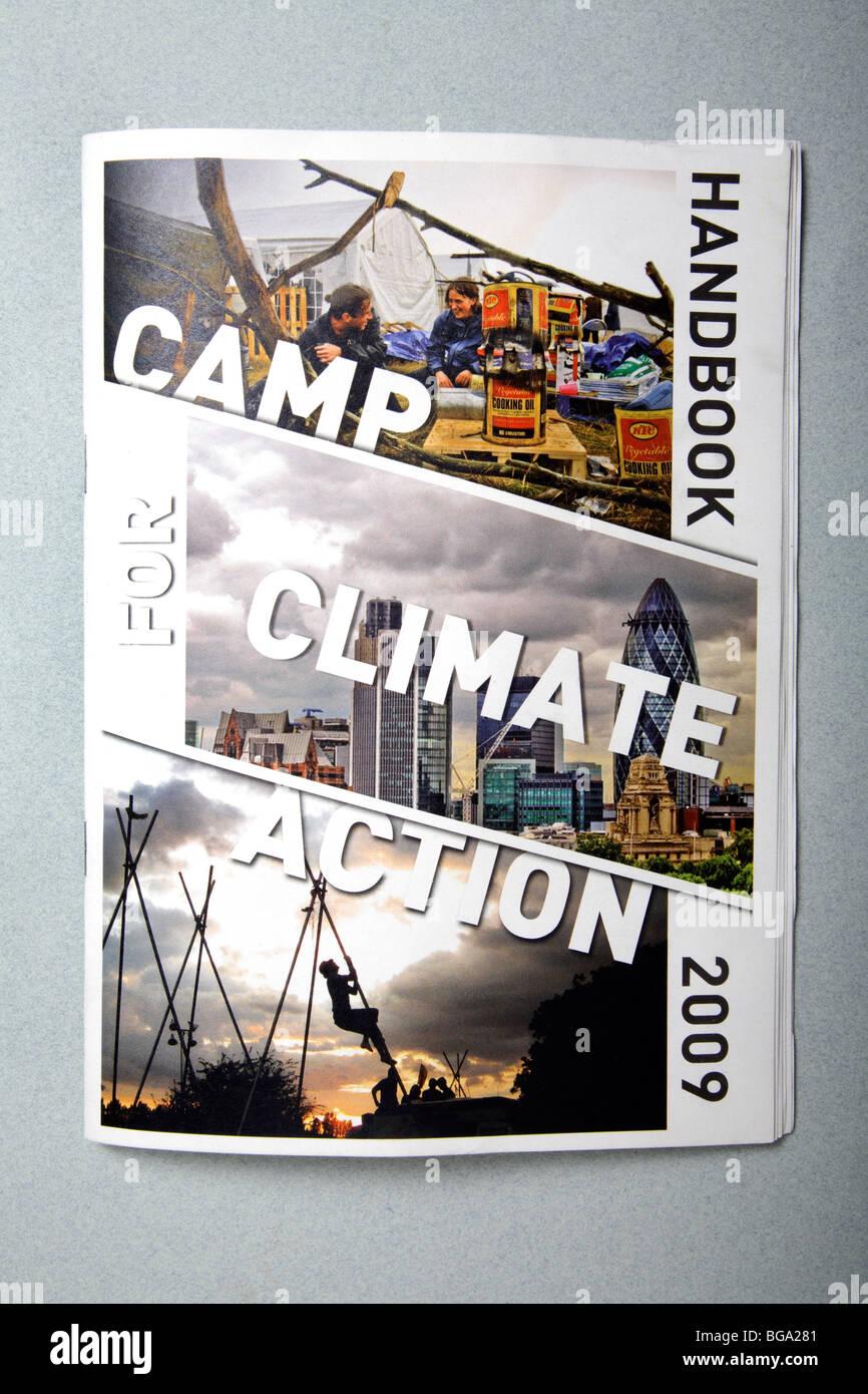Brochure du camp climatique Photo Stock