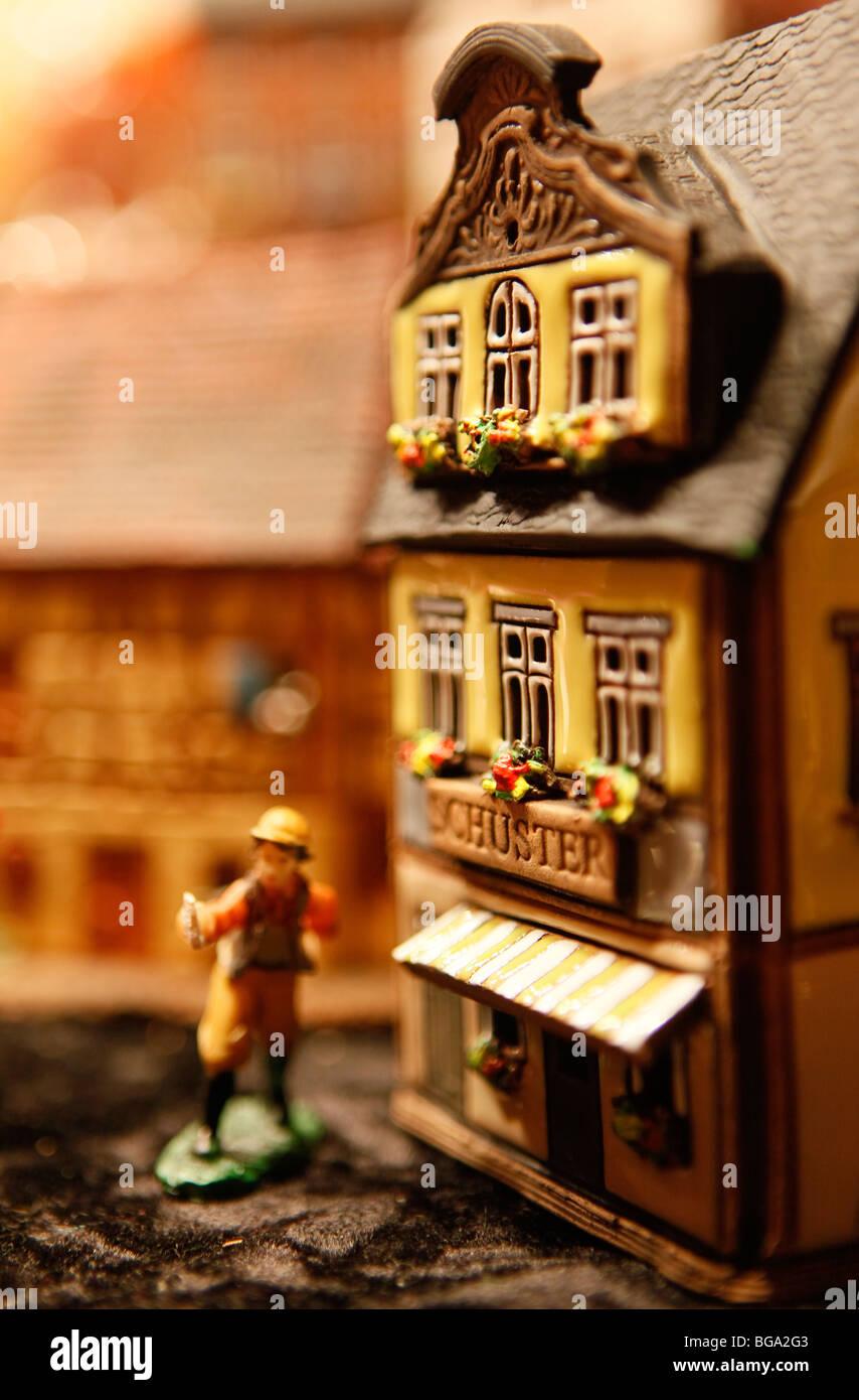 Le marché allemand à Bimingham City Centre à Noël. Jouet traditionnel fabriqué à la Photo Stock