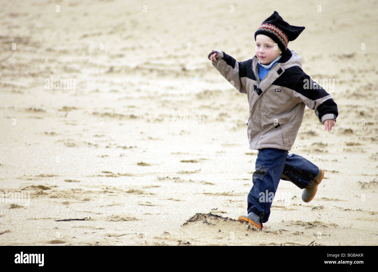 Photographie de garçon sain exercice plein air course active kids Banque D'Images
