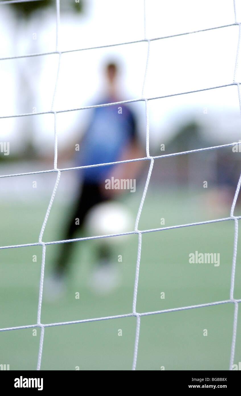 Photographie de creative football tir floue score shot Banque D'Images
