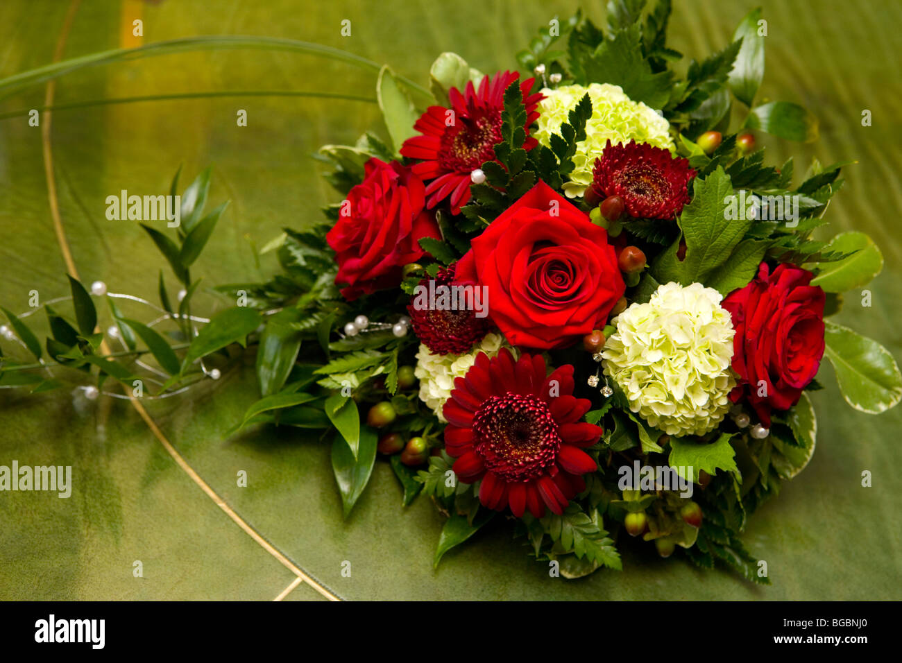 Décoration florale de mariage Photo Stock
