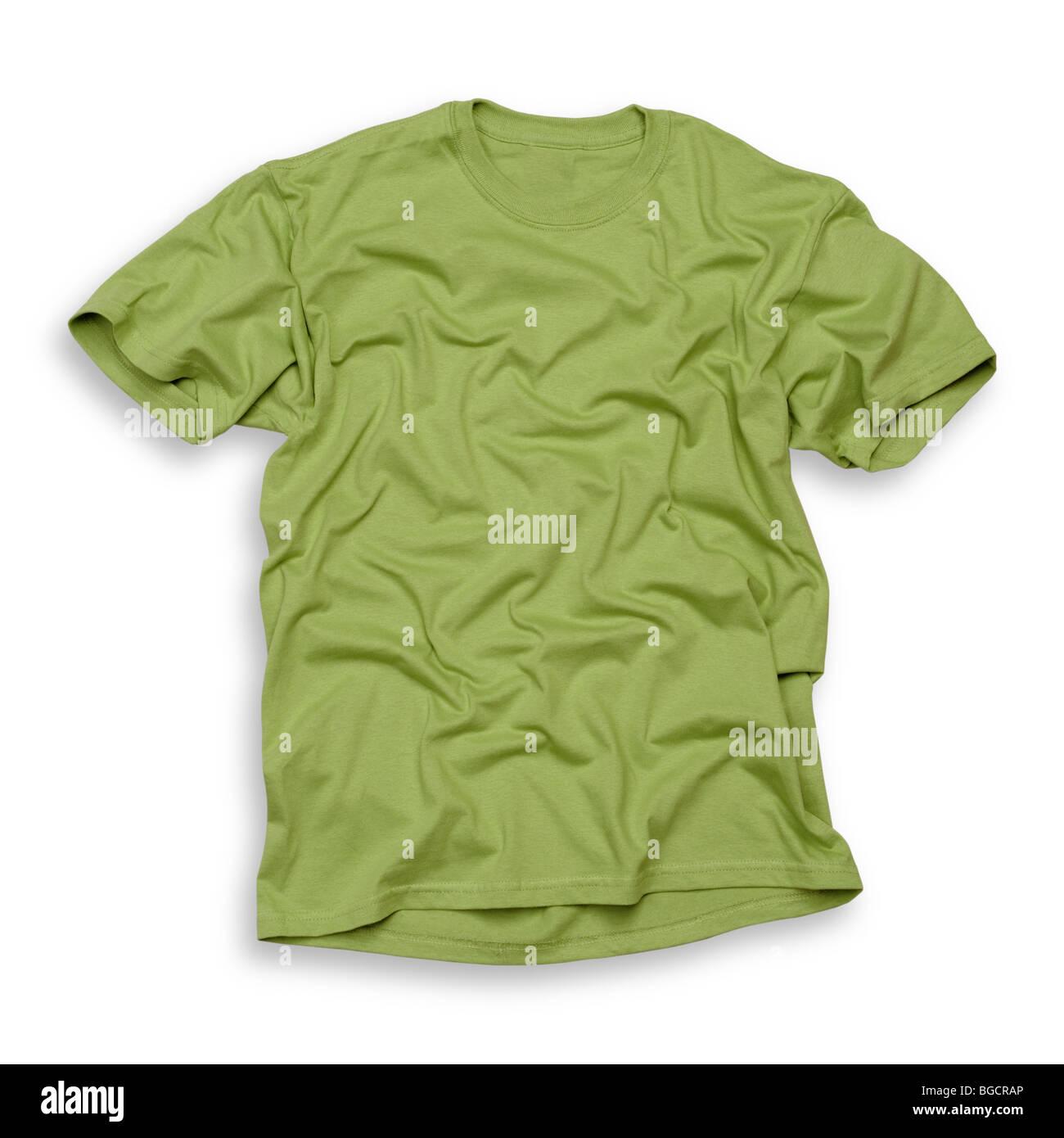 Tee-shirt vert Photo Stock