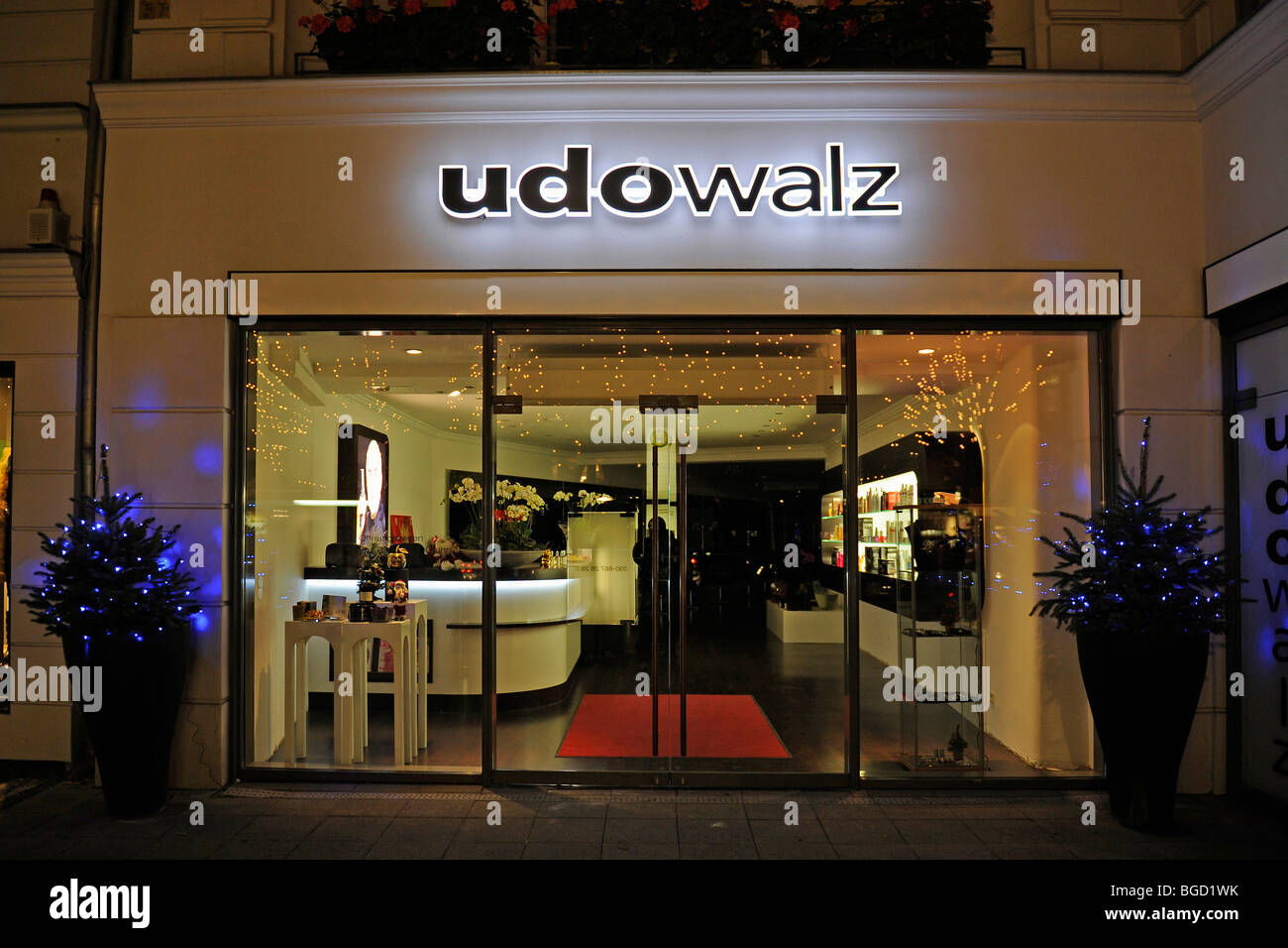Boutique de la célébrité coiffure Udo Walz sur le Kurfürstendamm, Berlin, Germany, Europe Photo Stock