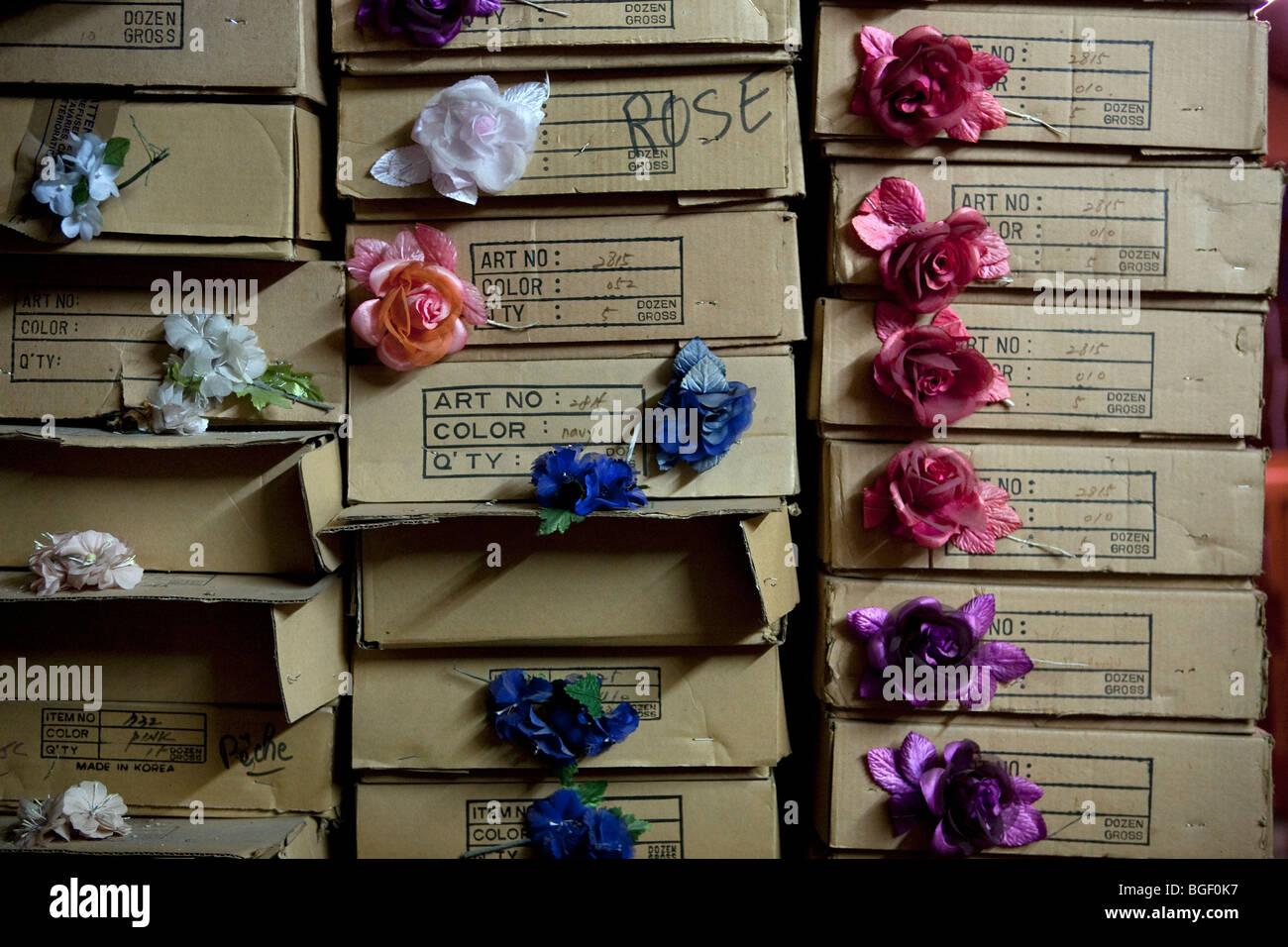 Vieux chapeau usine en France Photo Stock