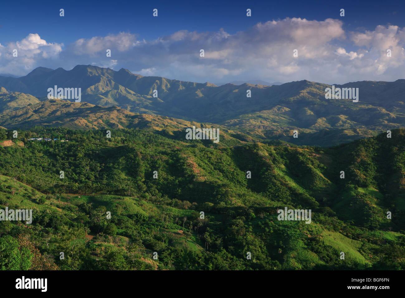 Les belles montagnes de la province de Cocle, Cordillère Centrale, République du Panama. Photo Stock