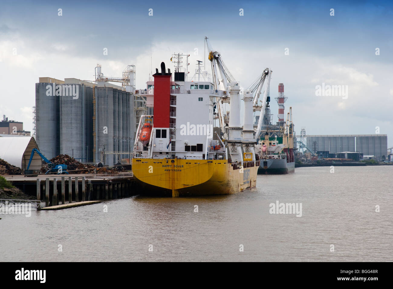 Le trafic de la rivière Savannah. Photo Stock