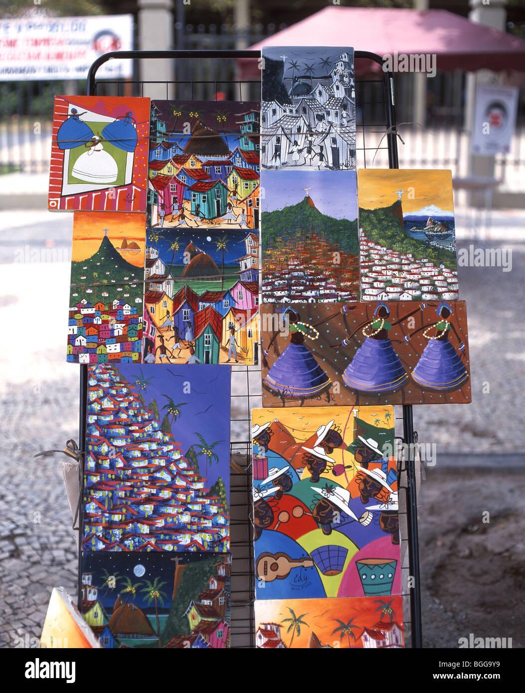 Peintures A Vendre Au Marche Hippie Ipanema Beach Rio De Janeiro Rio De Janeiro Bresil De L Etat Photo Stock Alamy