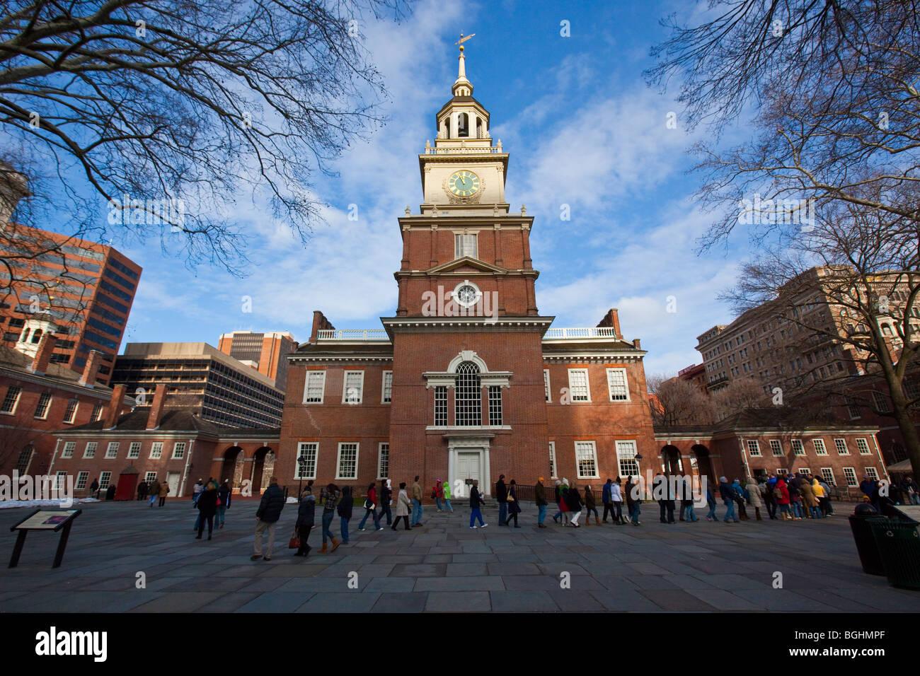 L'Independence Hall de Philadelphie, Pennsylvanie Photo Stock