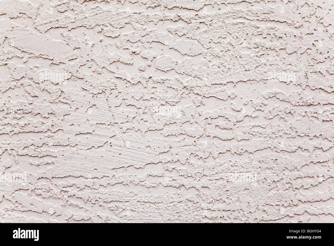 Mur extérieur en stuc blanc motif rugueux Photo Stock