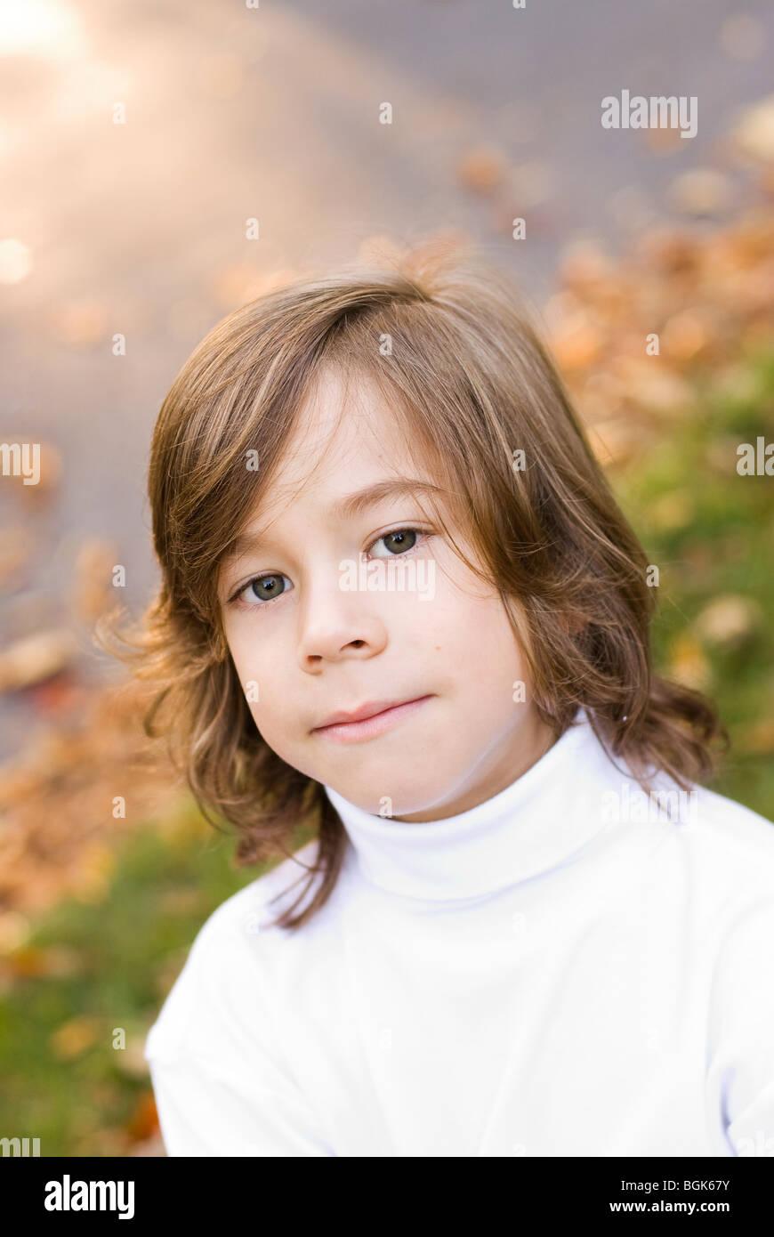 Tête et épaules photo de garçon Photo Stock