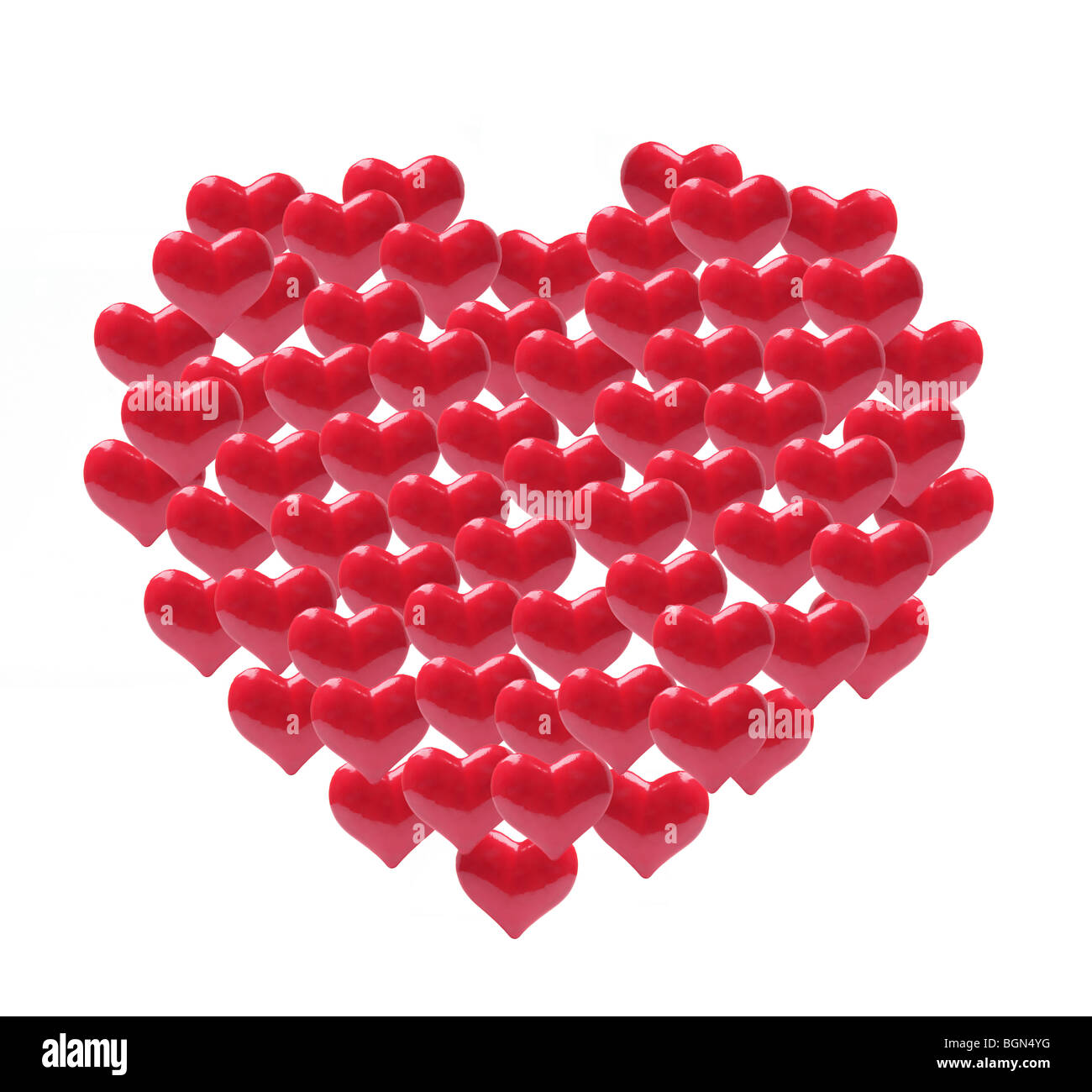 Coeur rouge amour Photo Stock