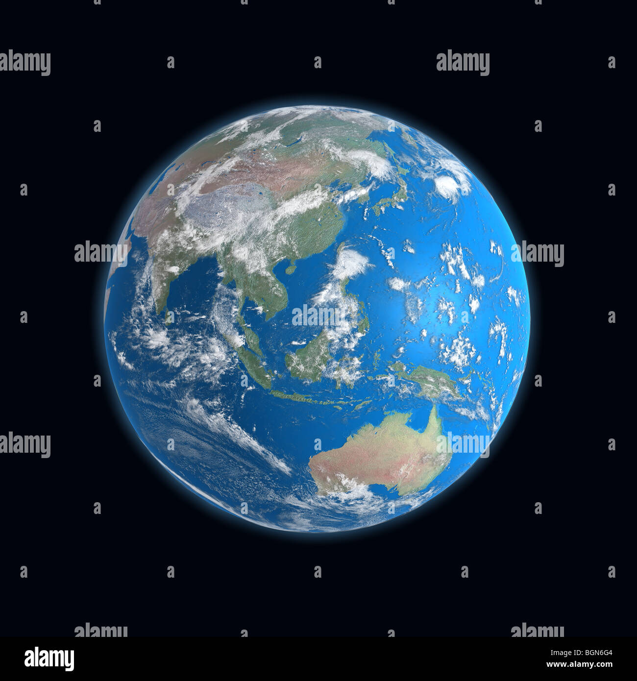 Carte Australie Malaisie.Carte Detaillee De Haute Terre Chine Japon Indonesie