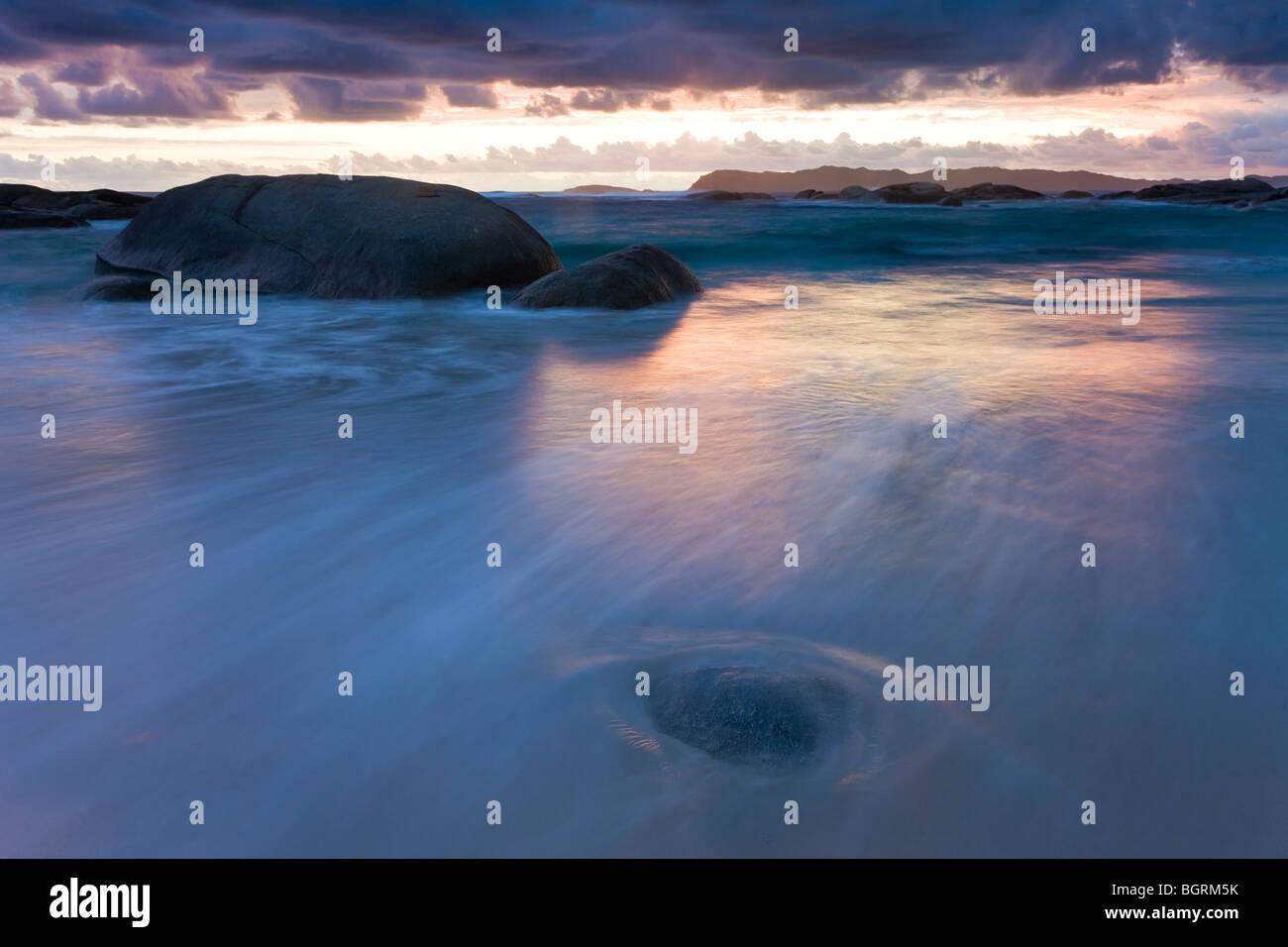 William Beach, William Bay National Park, nr le Danemark, l'Australie Occidentale Photo Stock
