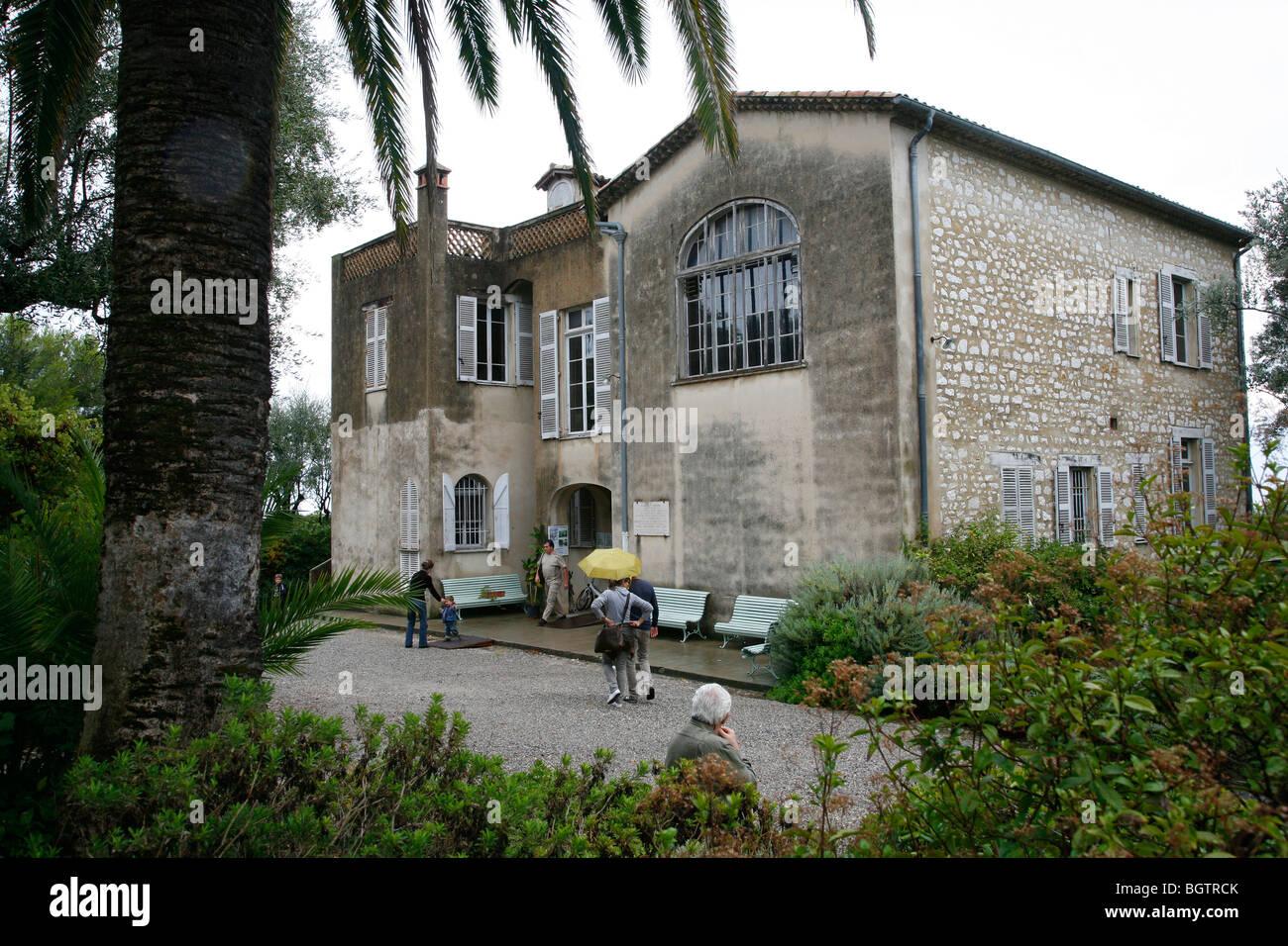 Le jardin et la maison au musée Renoir, Cagnes sur Mer, Alpes Maritimes Provence, France. Photo Stock