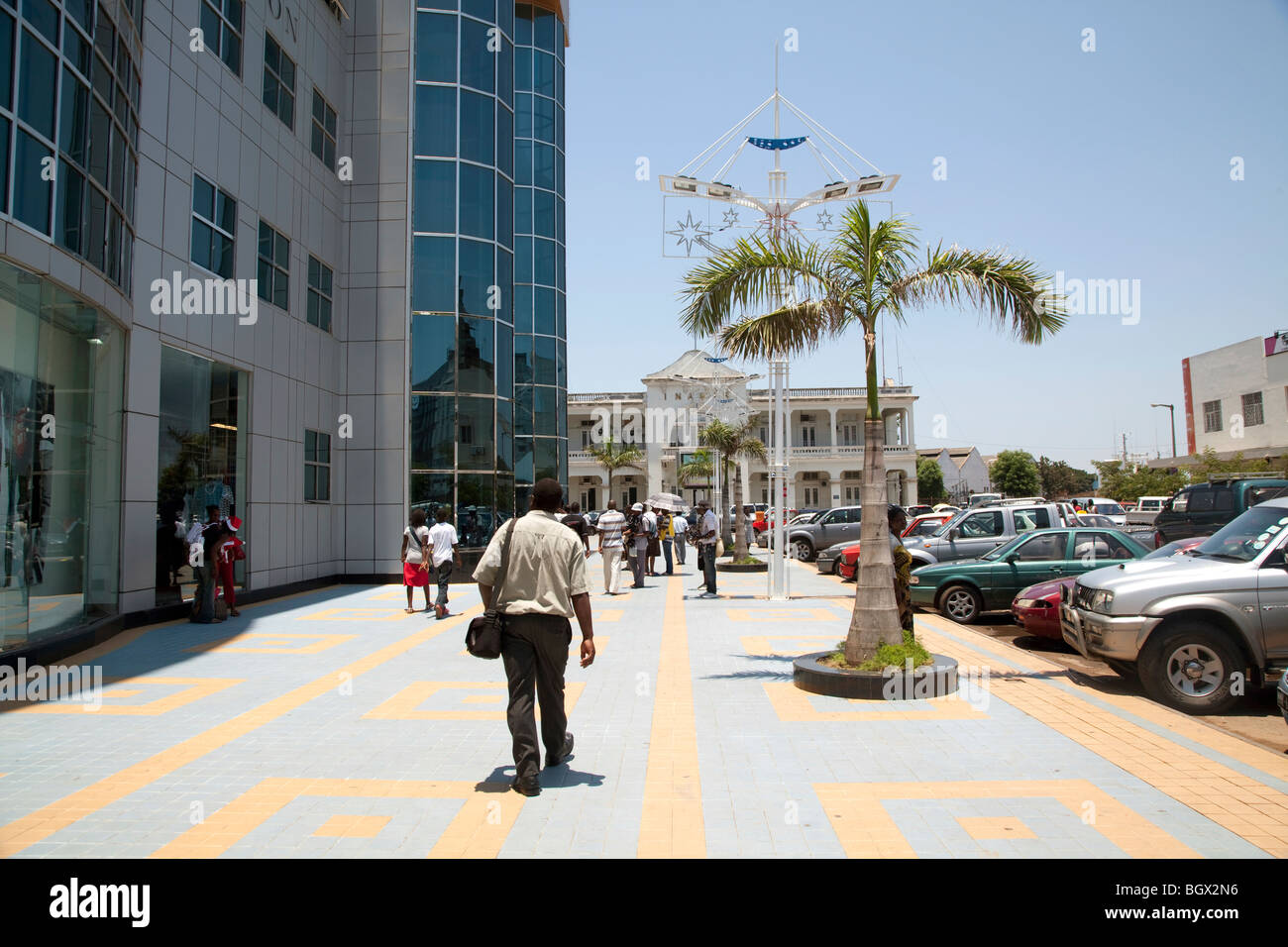 En dehors de la Lyon Shopping Centre, au Mozambique Photo Stock