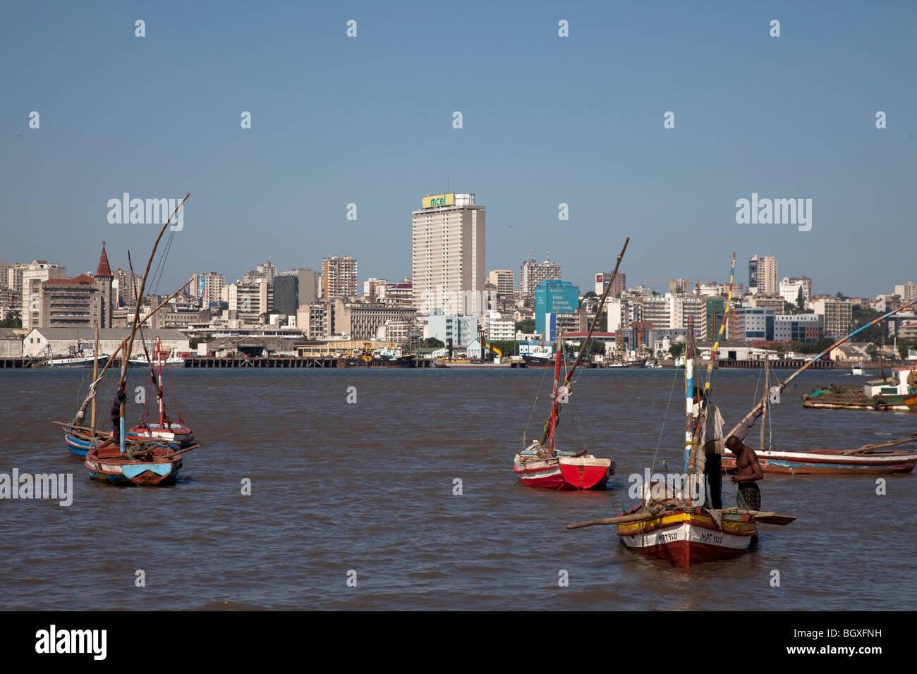 Bateaux de pêche de Catembe, Maputo, Mozambique Photo Stock