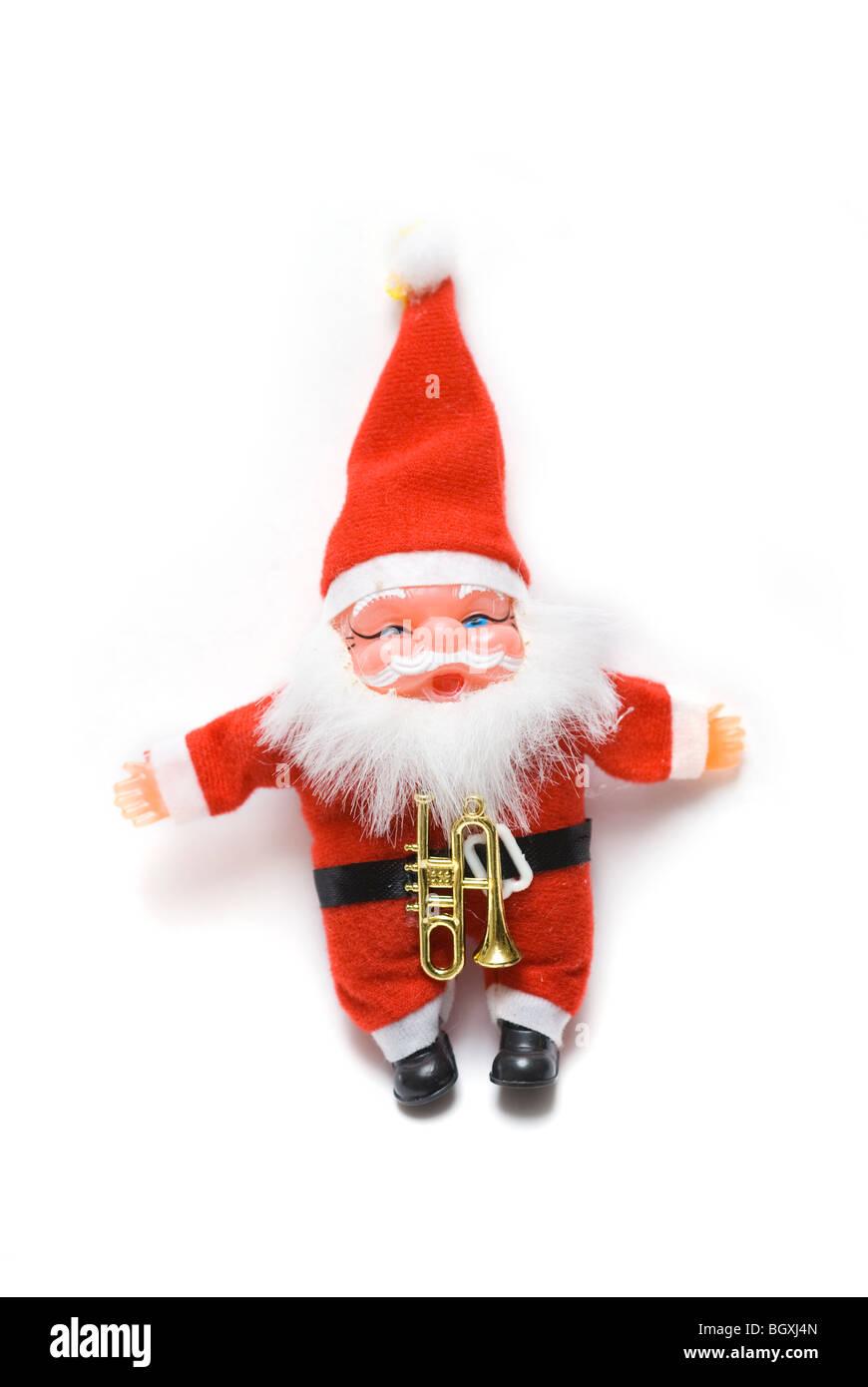 Père Noël isolé sur fond blanc Photo Stock