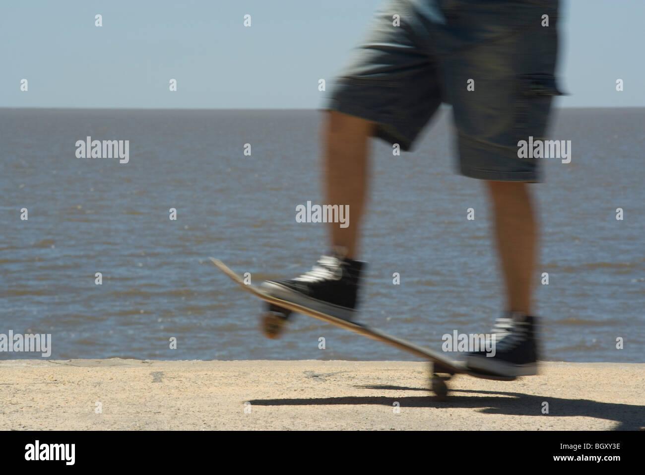 La planche à roulettes à Seaside Park Banque D'Images