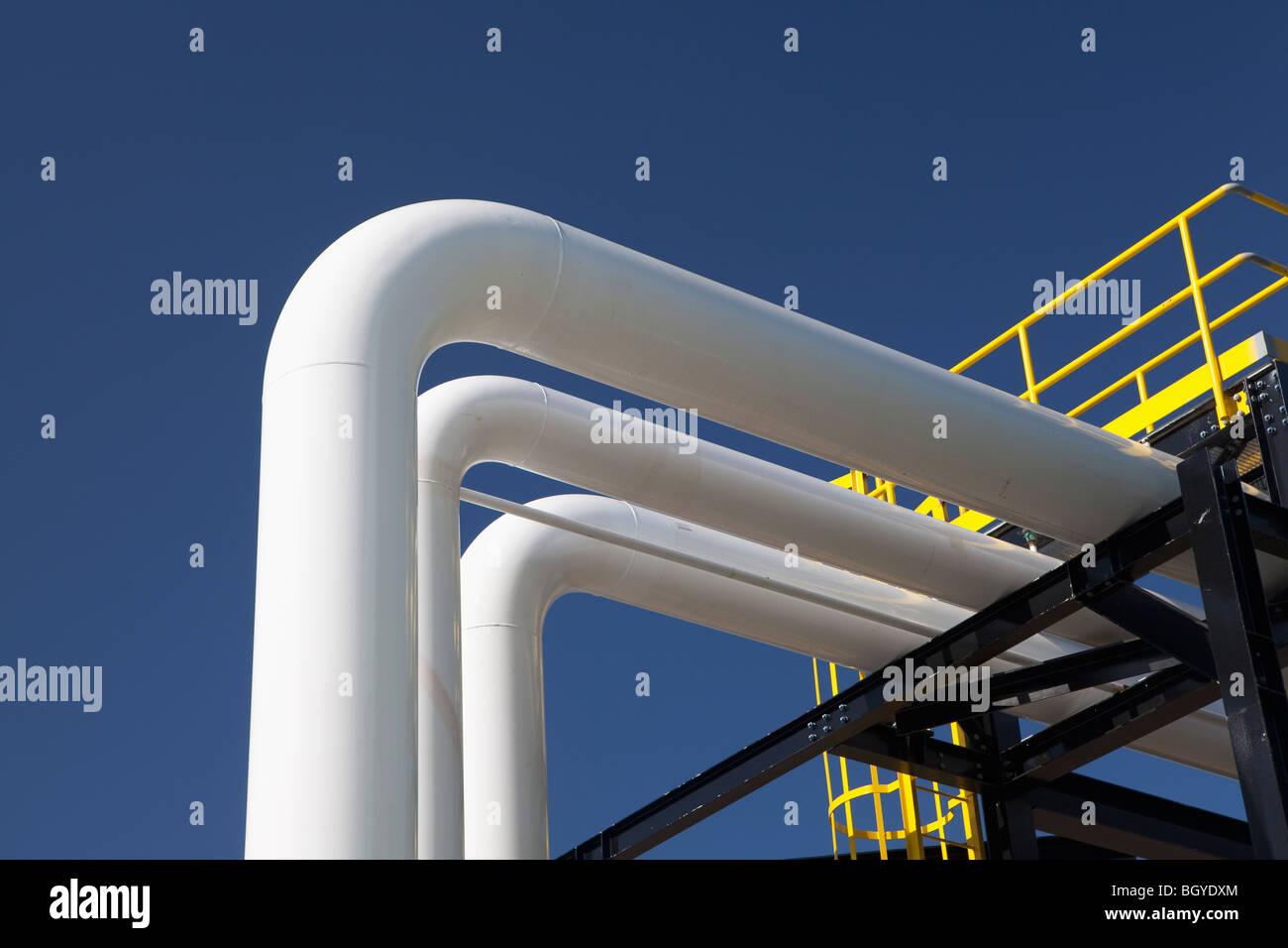 Station d'essence et d'huile Photo Stock