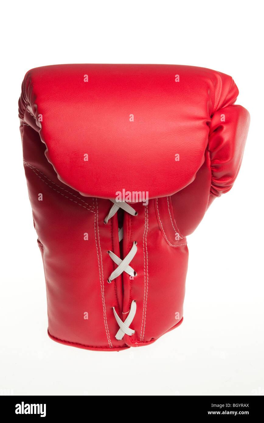 Gant de boxe rouge Banque D'Images