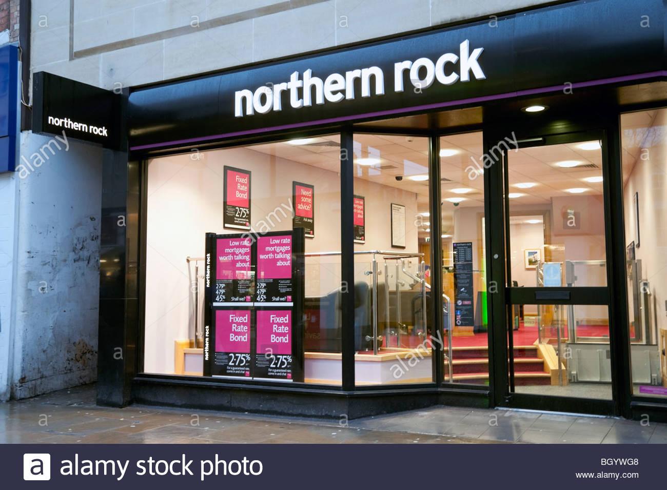 La banque Northern Rock à Cheltenham, Royaume-Uni. La construction de la société Northern Rock, GB. Photo Stock