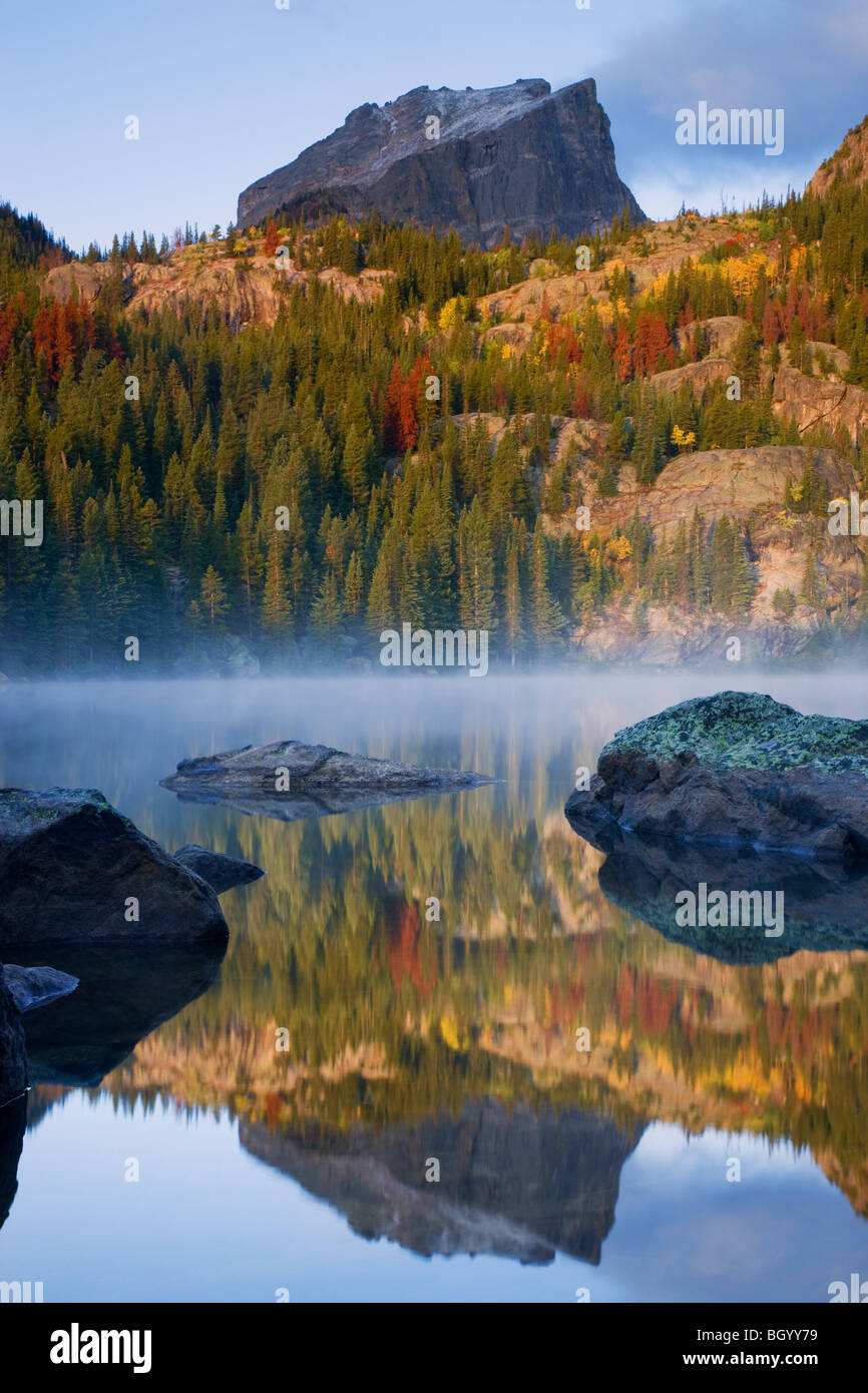Lac de l'ours, Rocky Mountain National Park, Colorado. Photo Stock