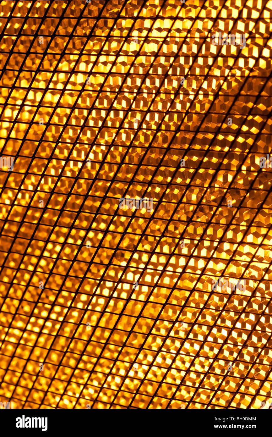 Près d'un chauffage halogène Lampes Photo Stock