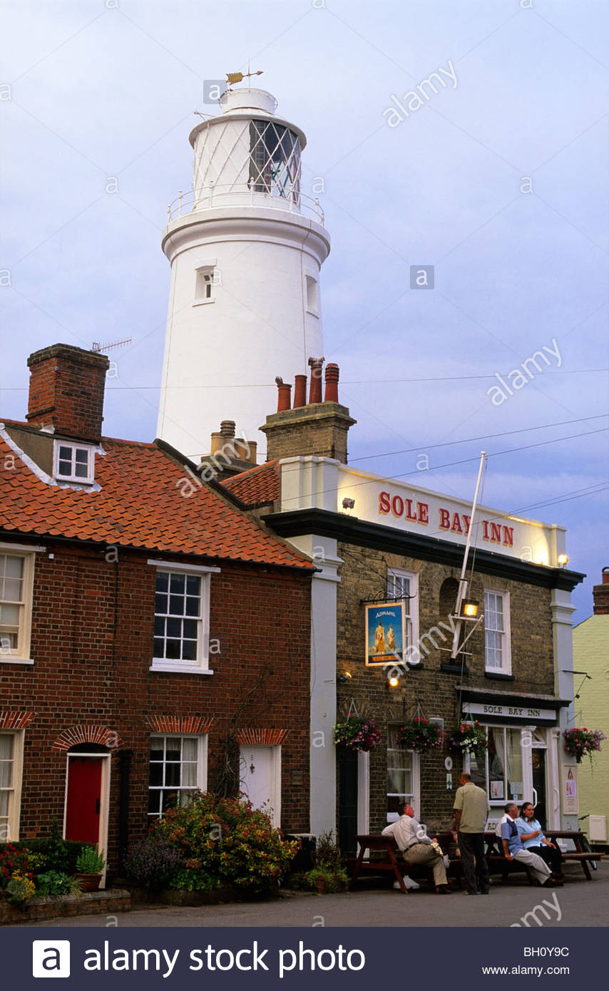 L'Europe, en Angleterre, dans le Suffolk, Southwold, East Anglia, lighthouse Photo Stock
