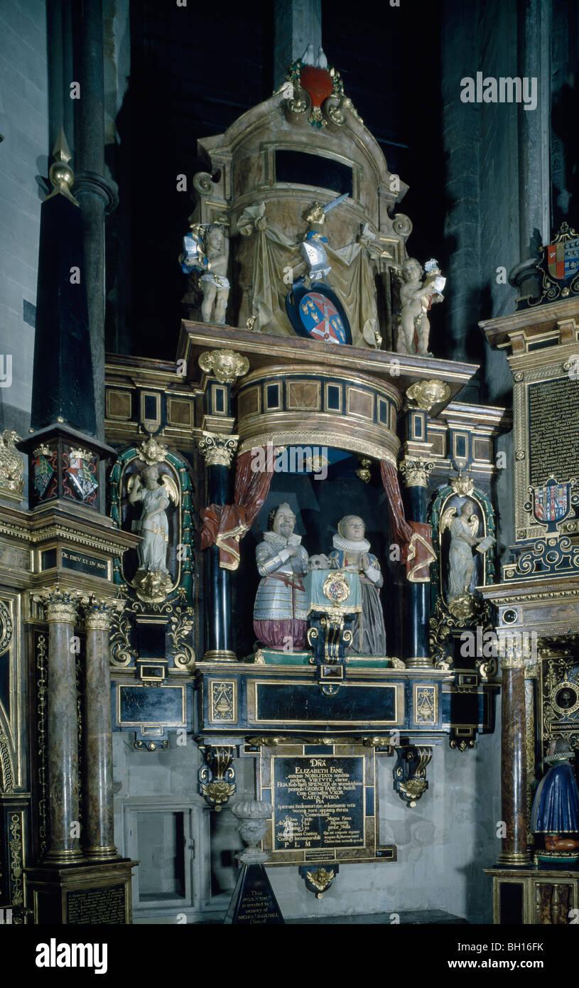 Fane Monument à la chapelle de St Nicolas de l'abbaye de Westminster Banque D'Images