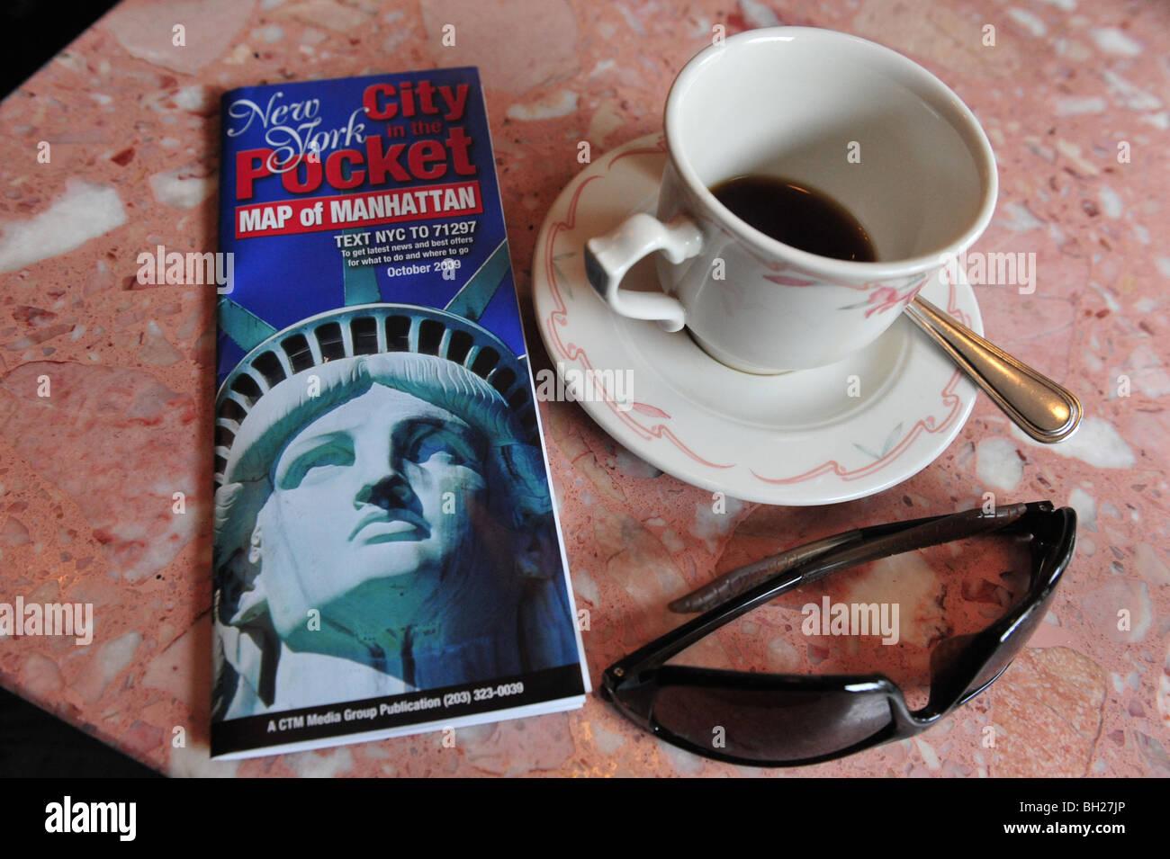 Café Café N.Y New York La Big Apple Manhattan New York Photo Stock