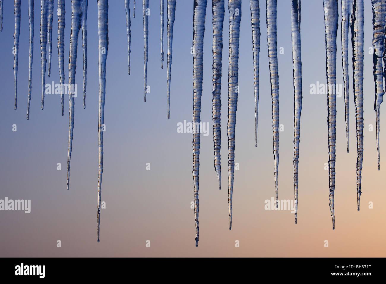 glaçons au crépuscule Photo Stock