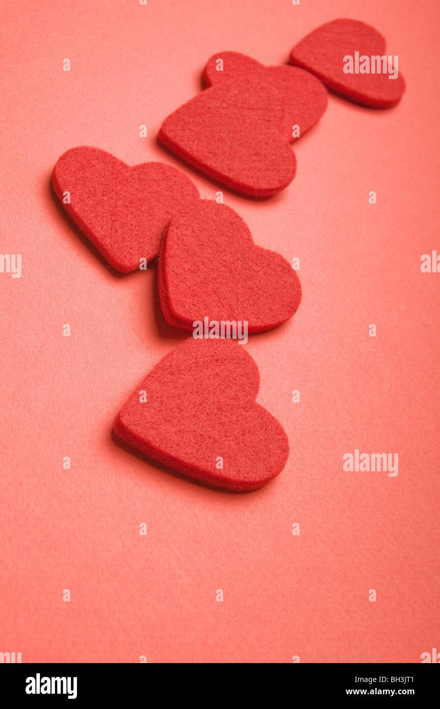 Valentine hearts, love concept Photo Stock