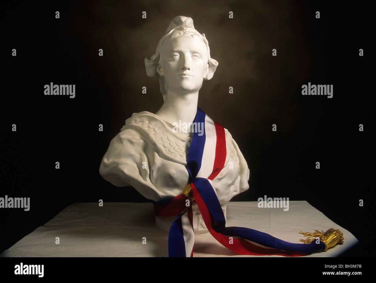 Statue de Marianne, symbole national de la République française Photo Stock