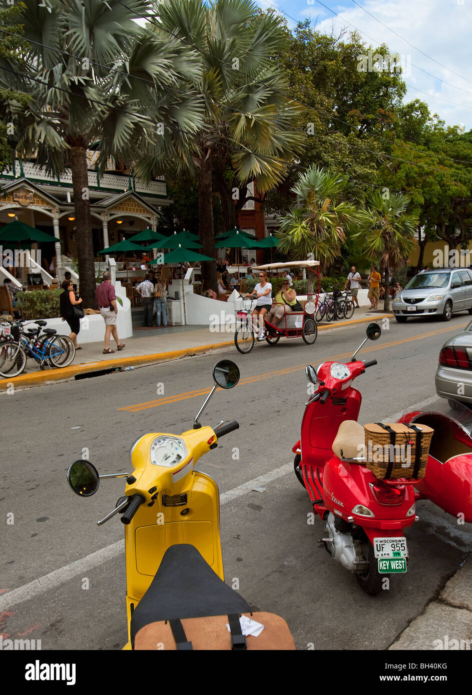 Duval Street, Key West, Floride Photo Stock