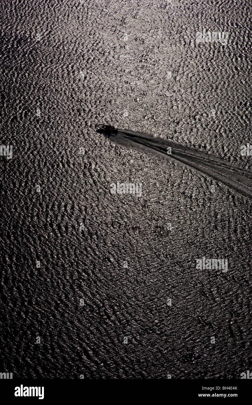 La sculpture de bateau Service, Golfe du Mexique Photo Stock