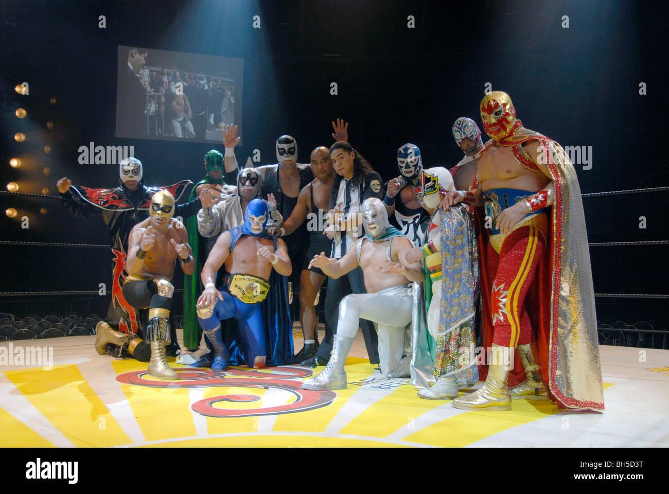 Culte mexicain de lutteurs de Lucha Libre à Mexico Photo Stock