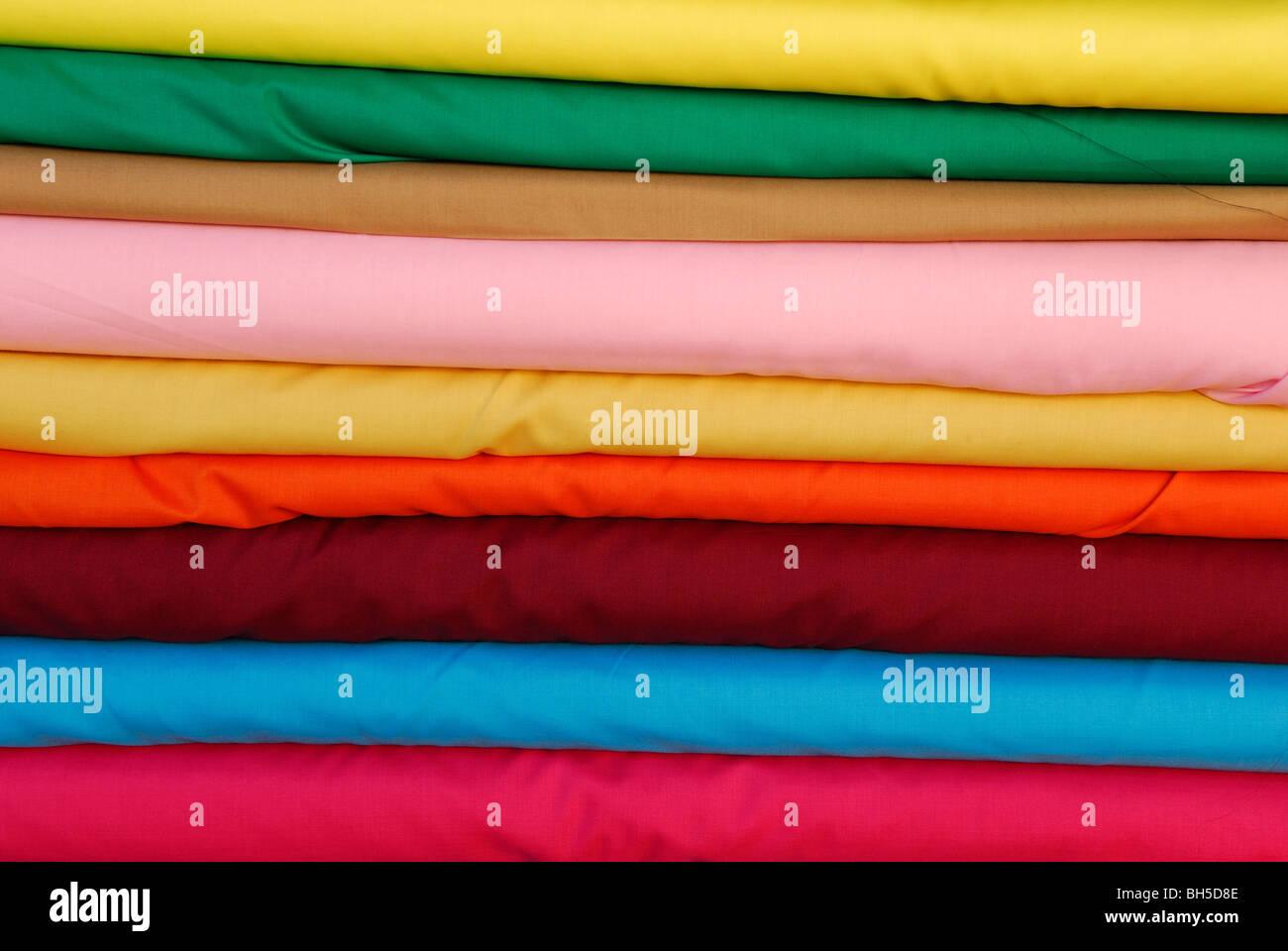 Matériau couleur chiffon. Photo Stock