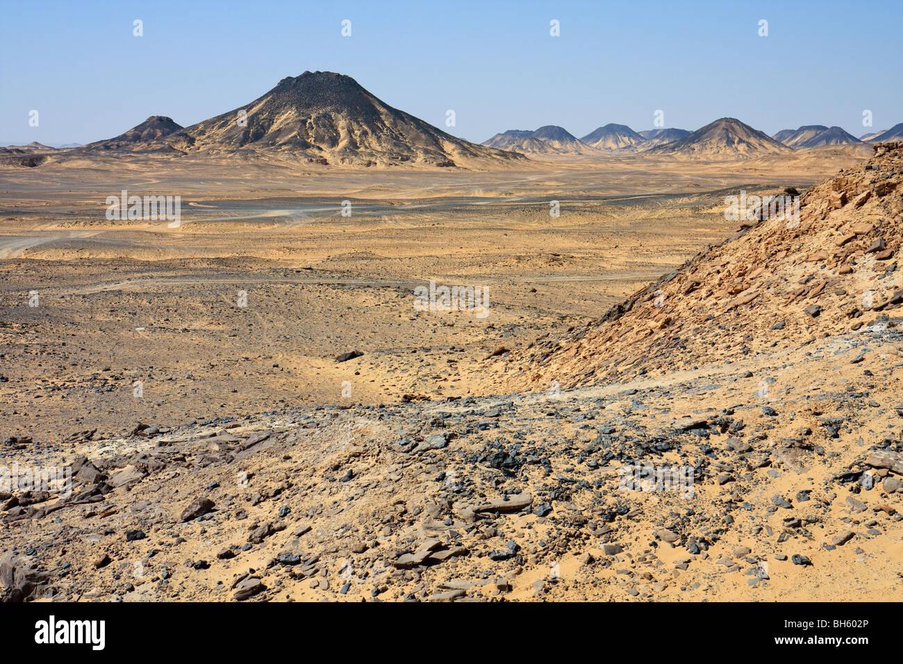 Egypte Afrique Désert Noir désert Occidental Banque D'Images