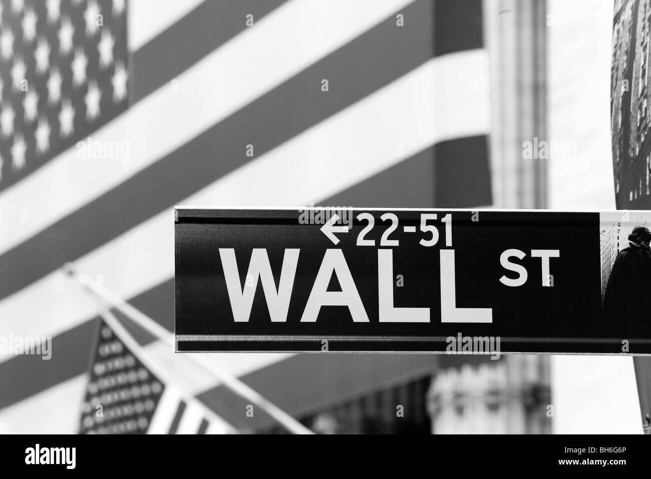 USA, New York, Manhattan, Downtown Financial District - Wall Street et la Bourse de New York Photo Stock