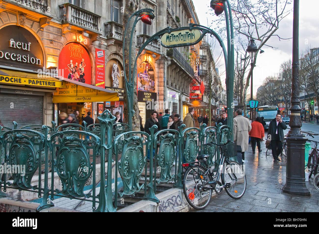 Quartier Latin Paris France Photo Stock