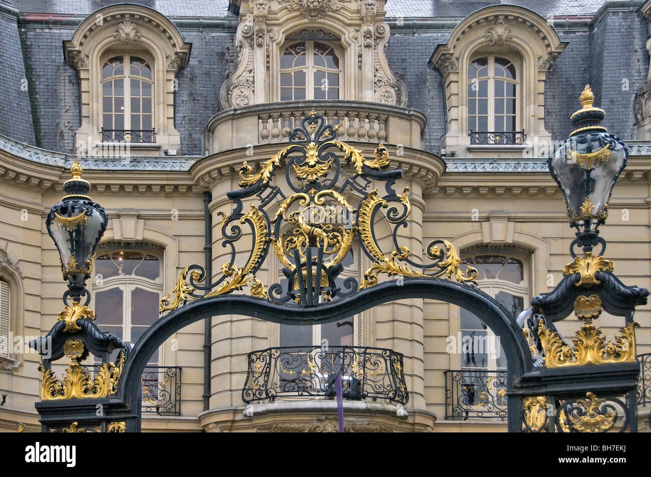 Hôtel particulier Rond-Point des Champs Elysées, Paris France Photo Stock