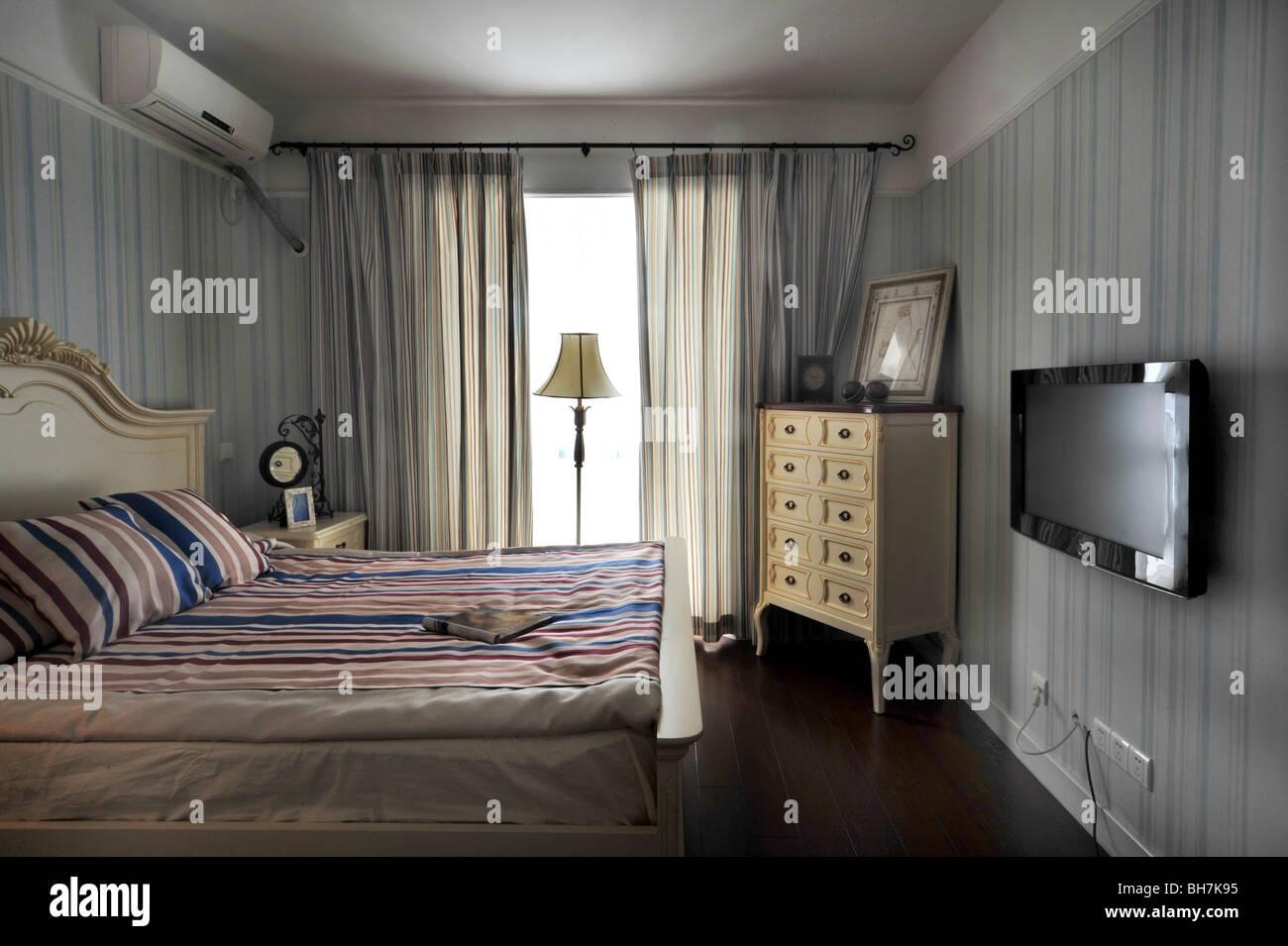 L'intérieur de chambre à coucher Photo Stock