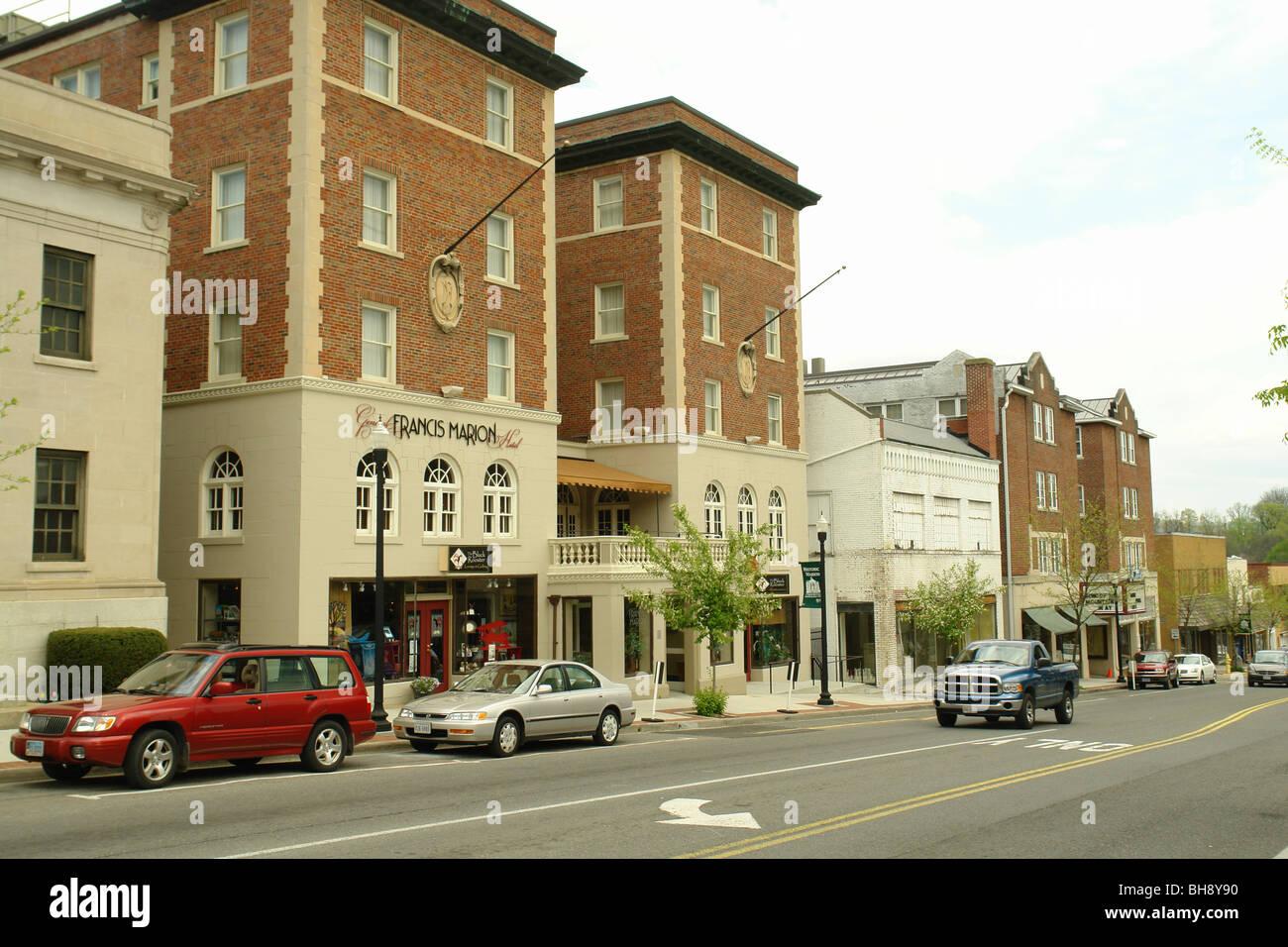 AJD64355, Marion, Virginie, Virginie, du centre-ville historique, Marion, la rue principale Banque D'Images