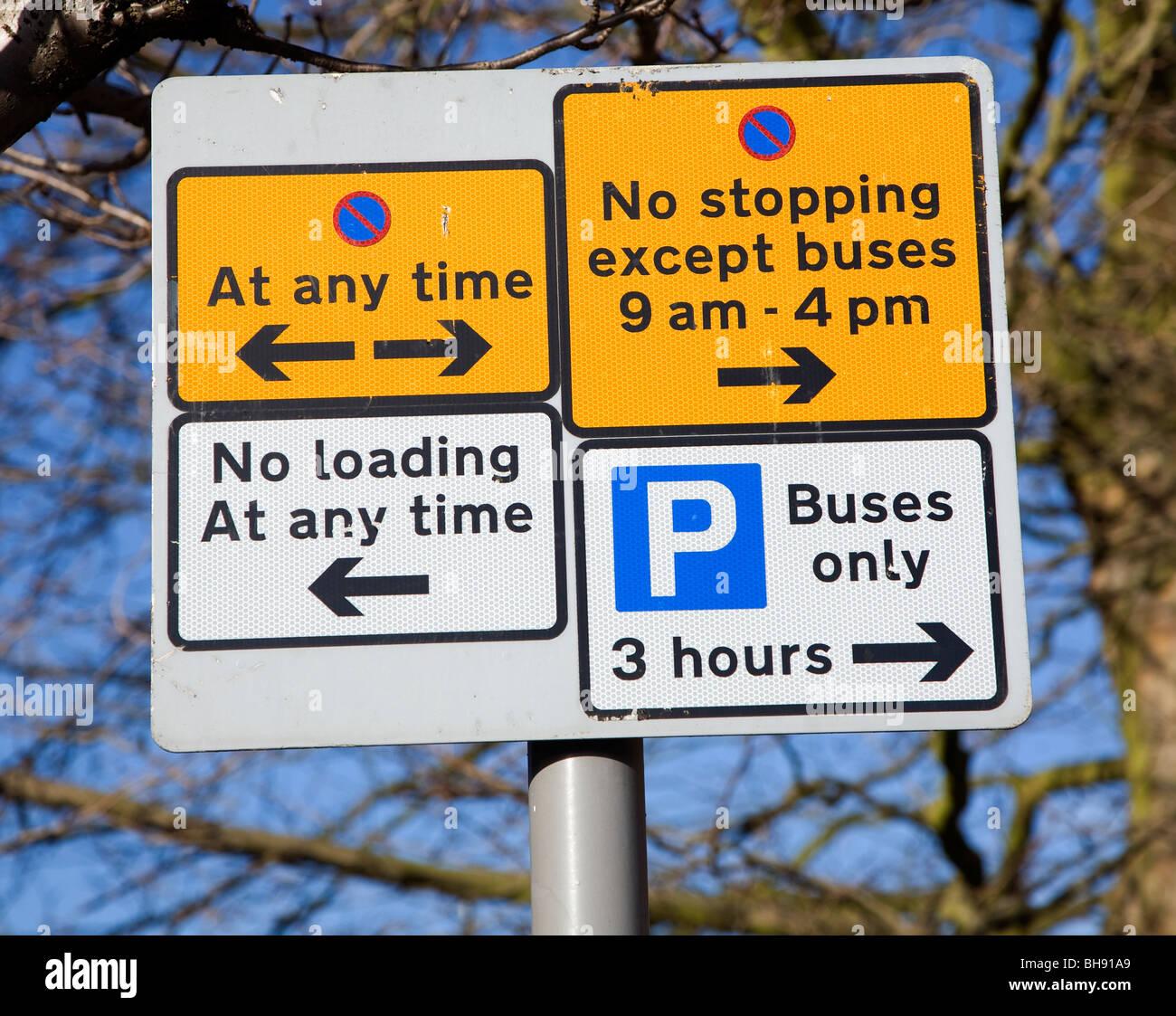 Avis sur l'Parking Photo Stock
