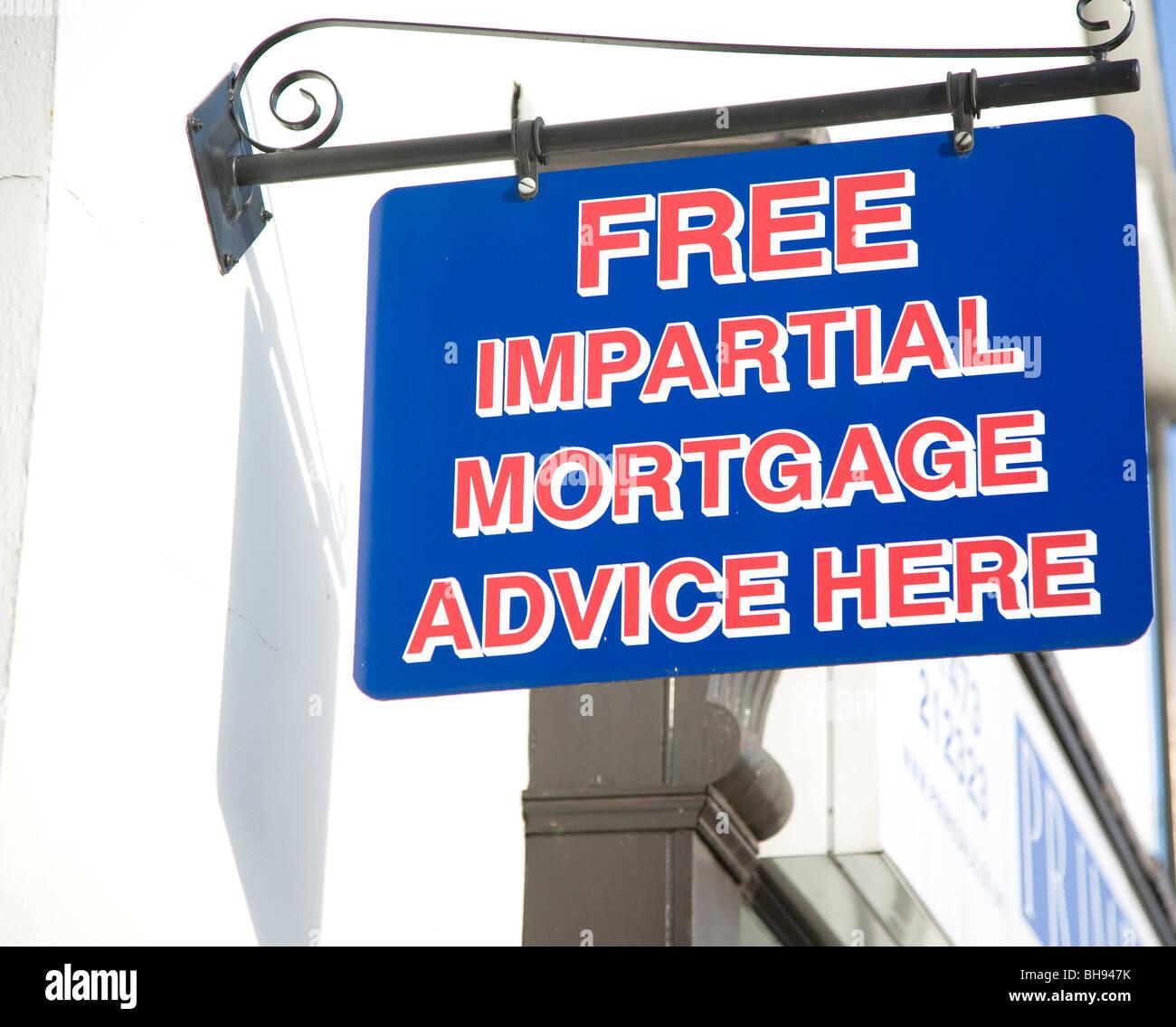 Inscrivez-vous gratuitement la publicité des conseils hypothécaires impartial ici Photo Stock