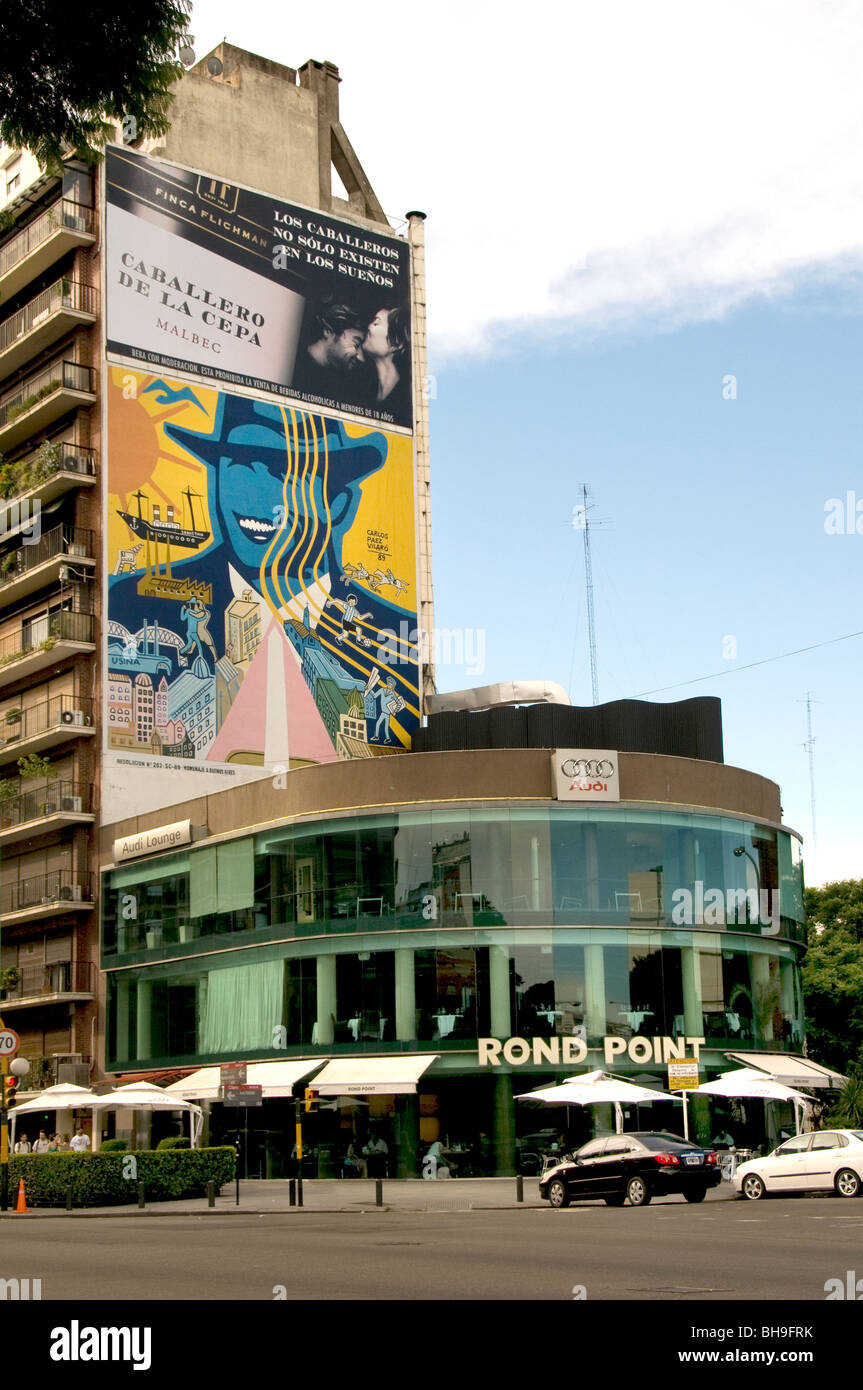 Rond Point Restaurant Buenos Aires Argentine Town City Photo Stock