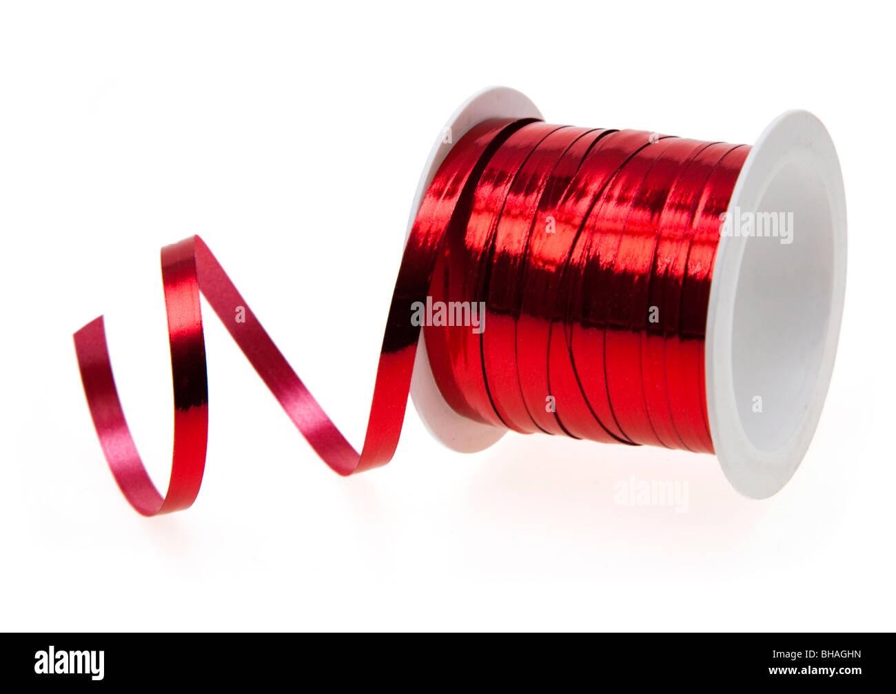 Ruban rouge sur le tiroir Photo Stock