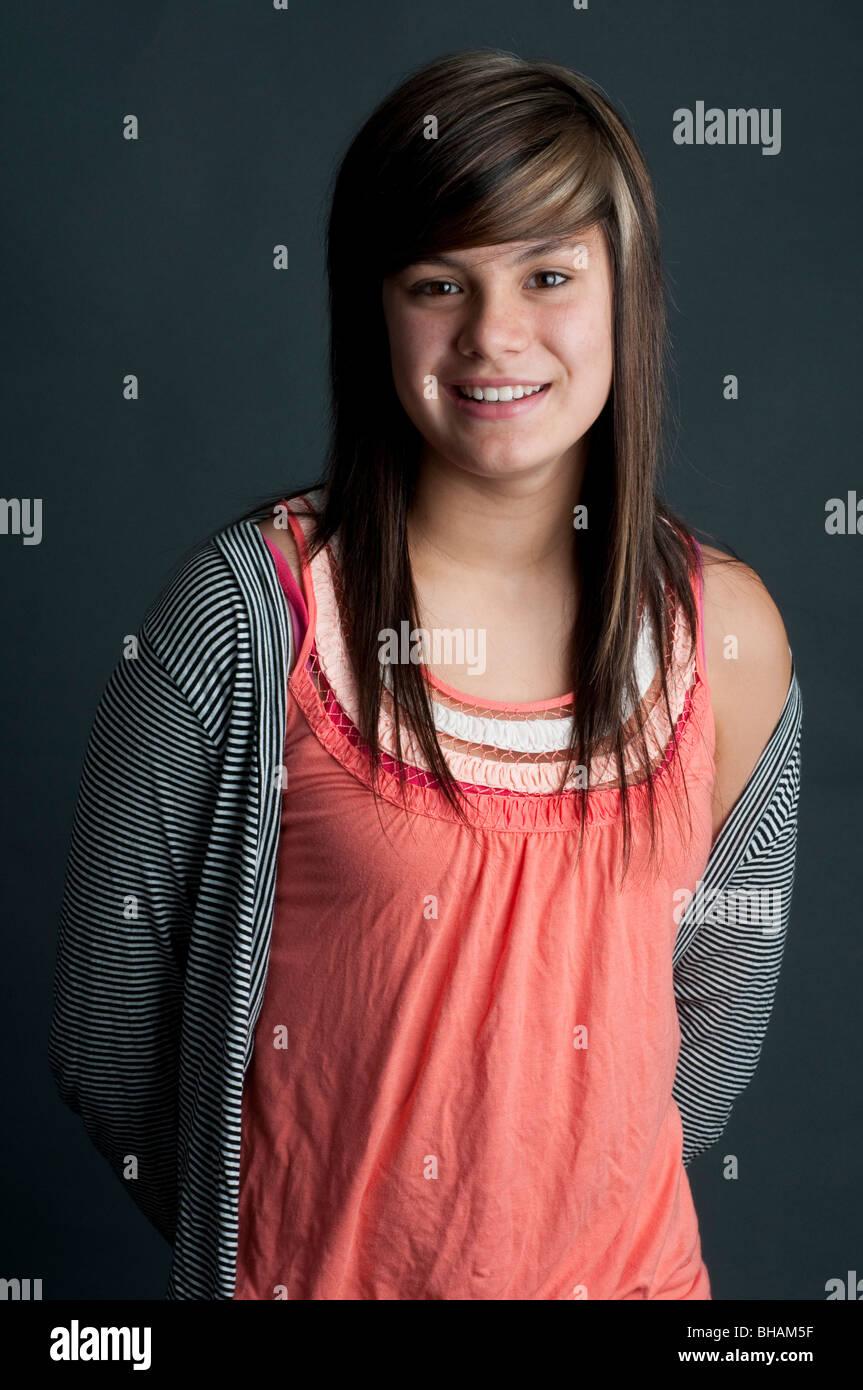 Jolie fille de 13 ans Photo Stock