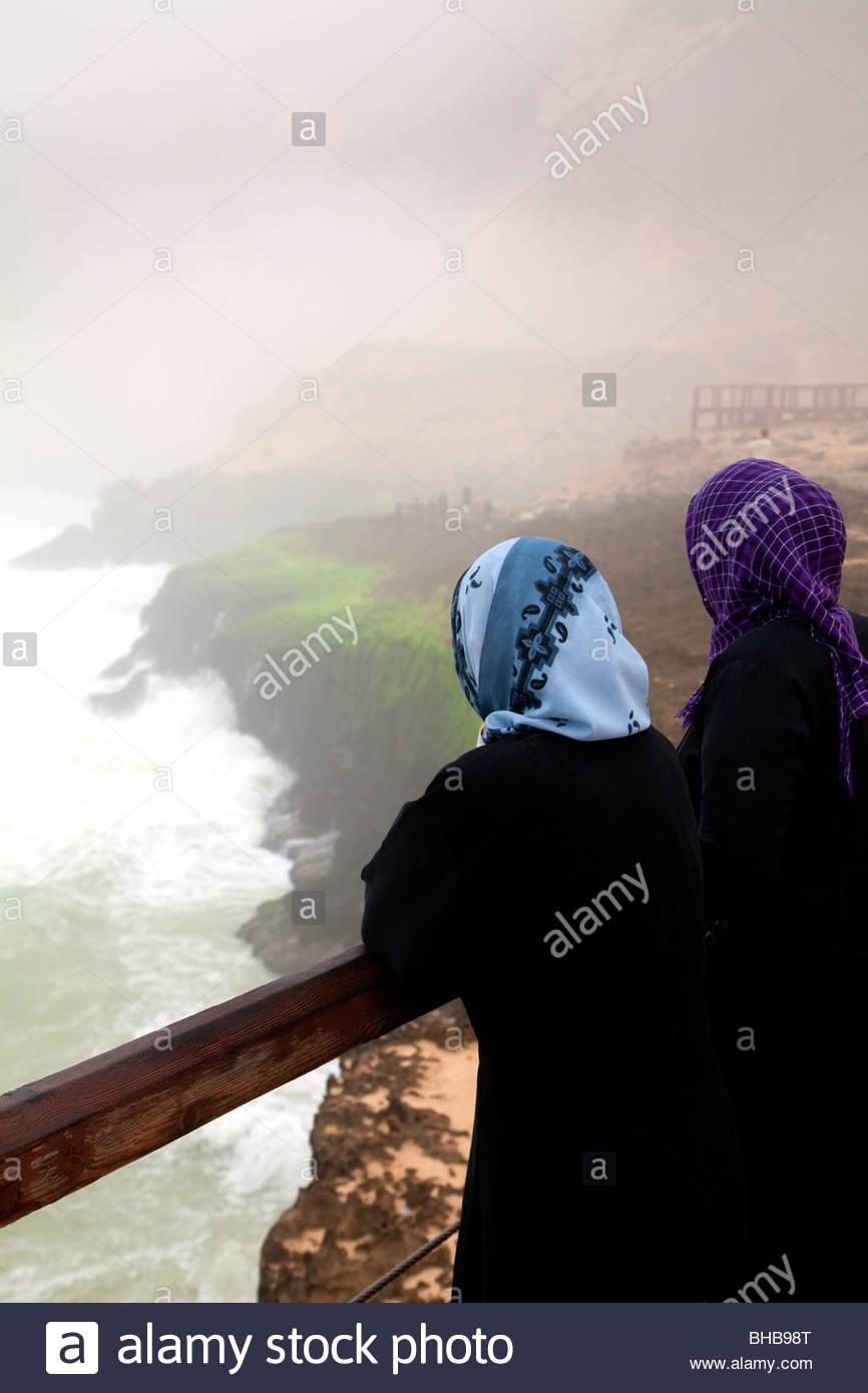 Péninsule arabe arabe arabe Asie Dhofar trous souffler l'islam; saison khareef islamique; saison Photo Stock