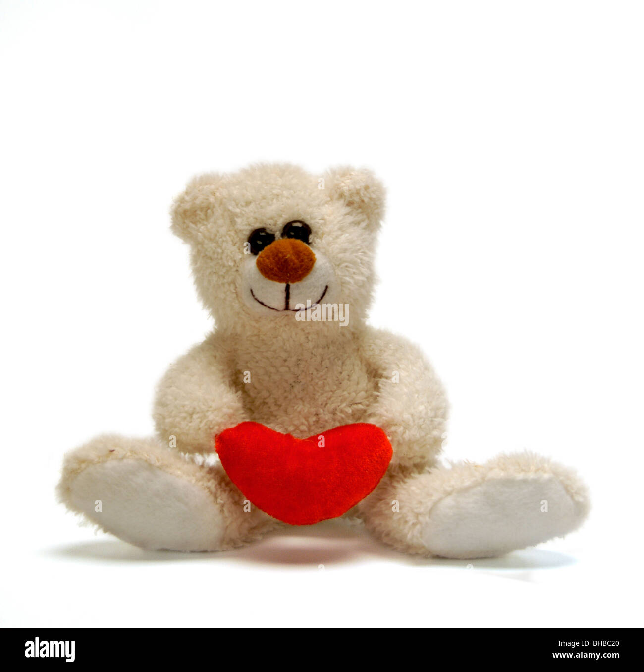 Ours holding love heart Photo Stock